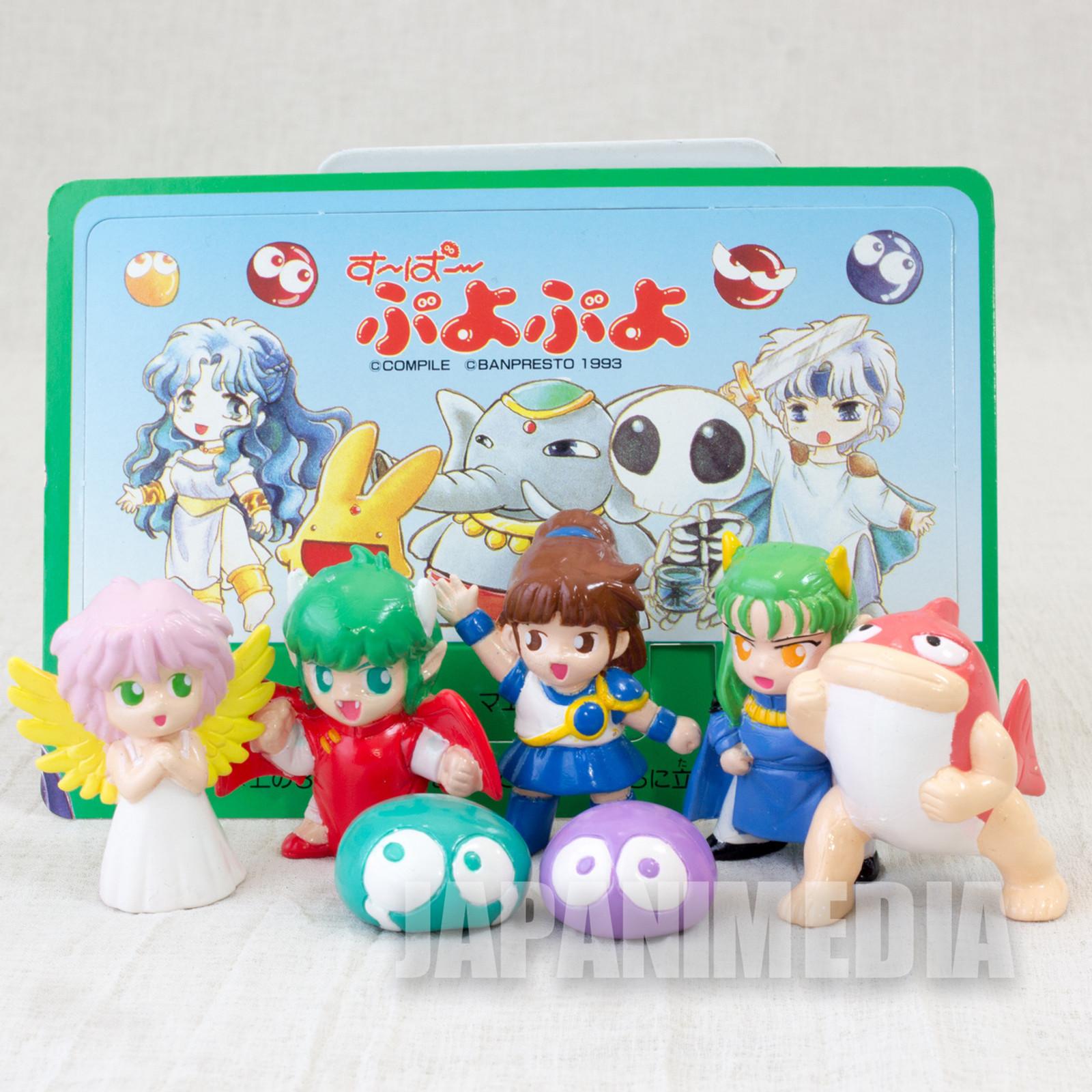 Retro RARE Puyo Puyo Pocket Hero Mini Figure Set Yutaka 1994 JAPAN GAME COMPILE