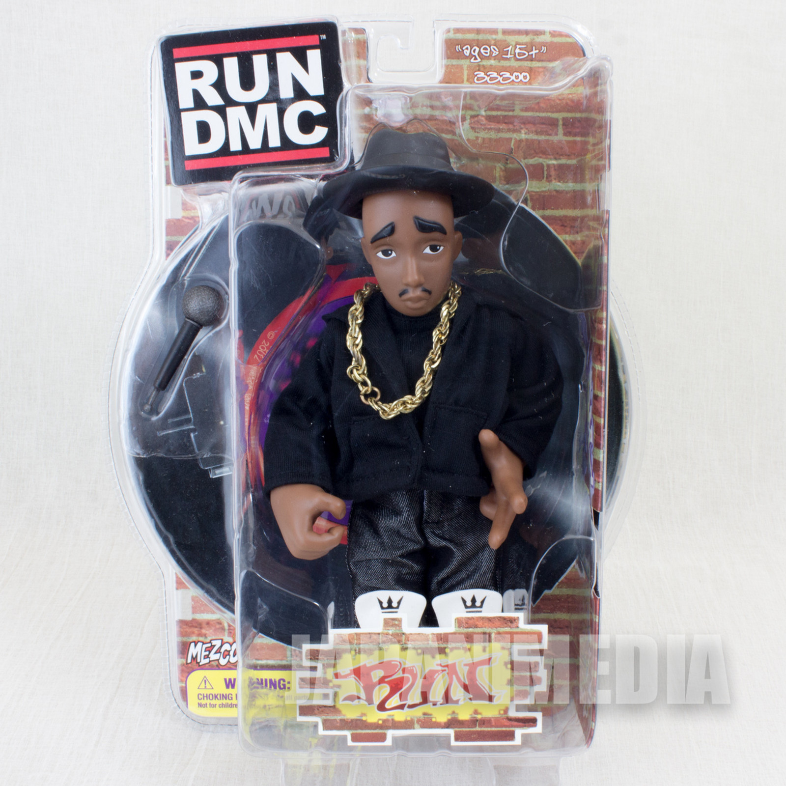 RUN DMC Run Action Figure Black Clothes Ver. Mezco Toy HIP HOP RAP