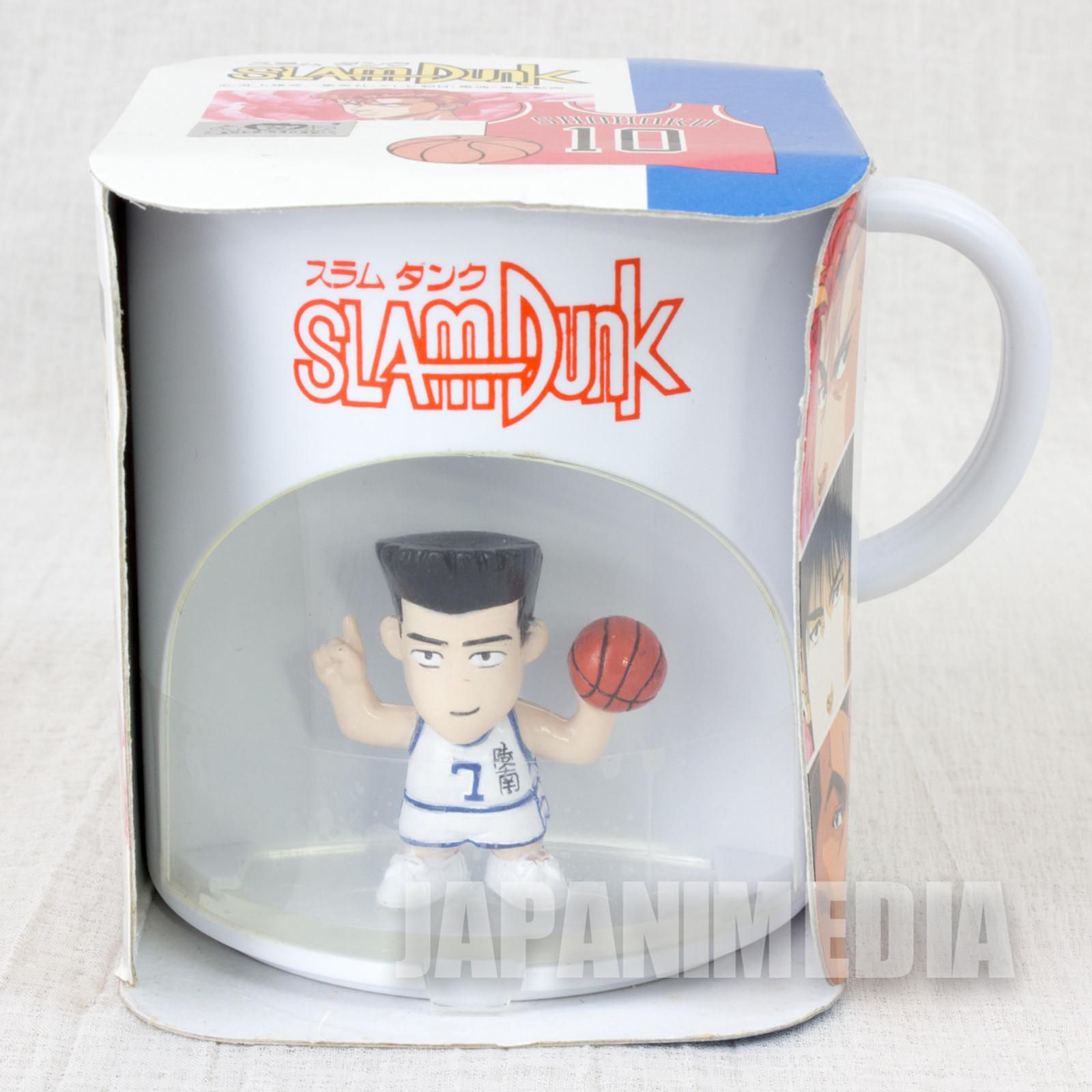 SLAM DUNK Akira Sendoh Team Ryonan #7 Figure in Plastic Mug Banpresto JAPAN ANIME MANGA