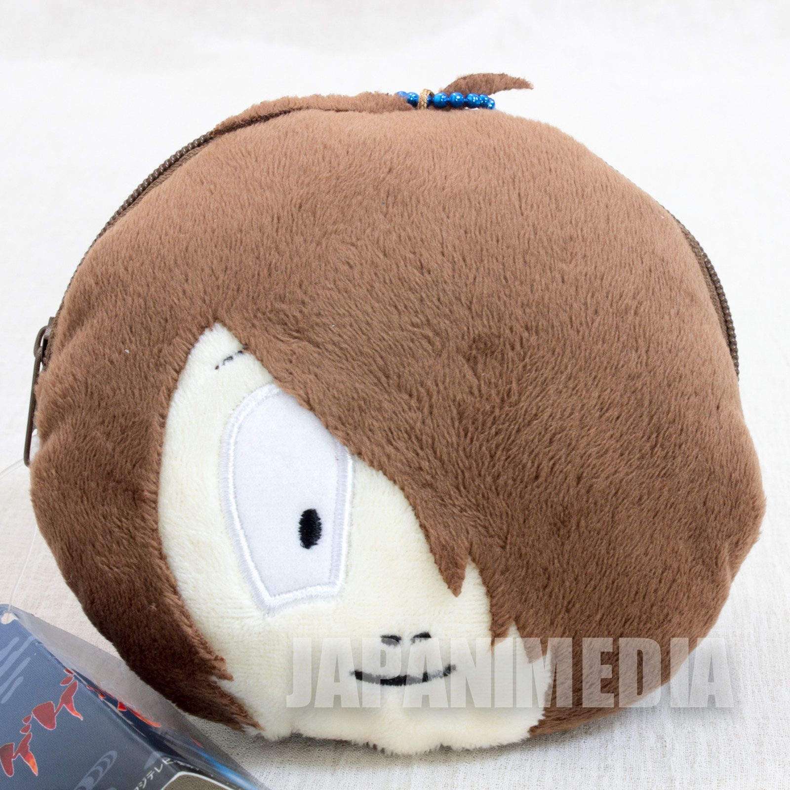 Gegege no Kitaro Face Plush Doll Type Coin Purse Zipper JAPAN ANIME