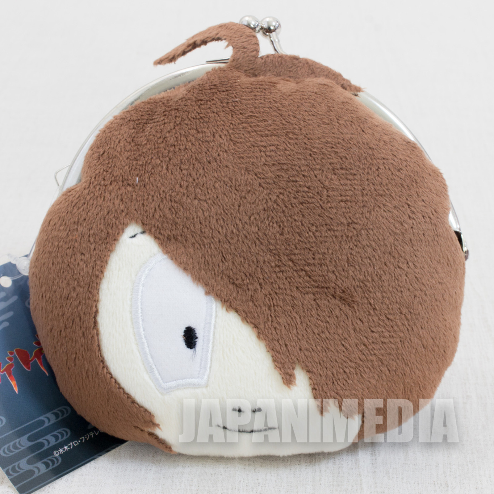 Gegege no Kitaro Face Plush Doll Type Coin Purse Gamaguchi JAPAN ANIME