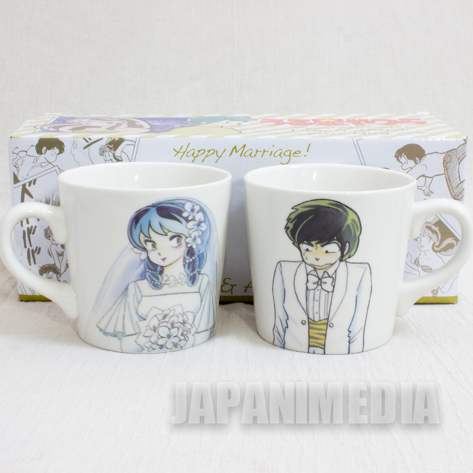 Urusei Yatsura Lum & Ataru Happy Marriage! Pair Mug JAPAN ANIME MANGA