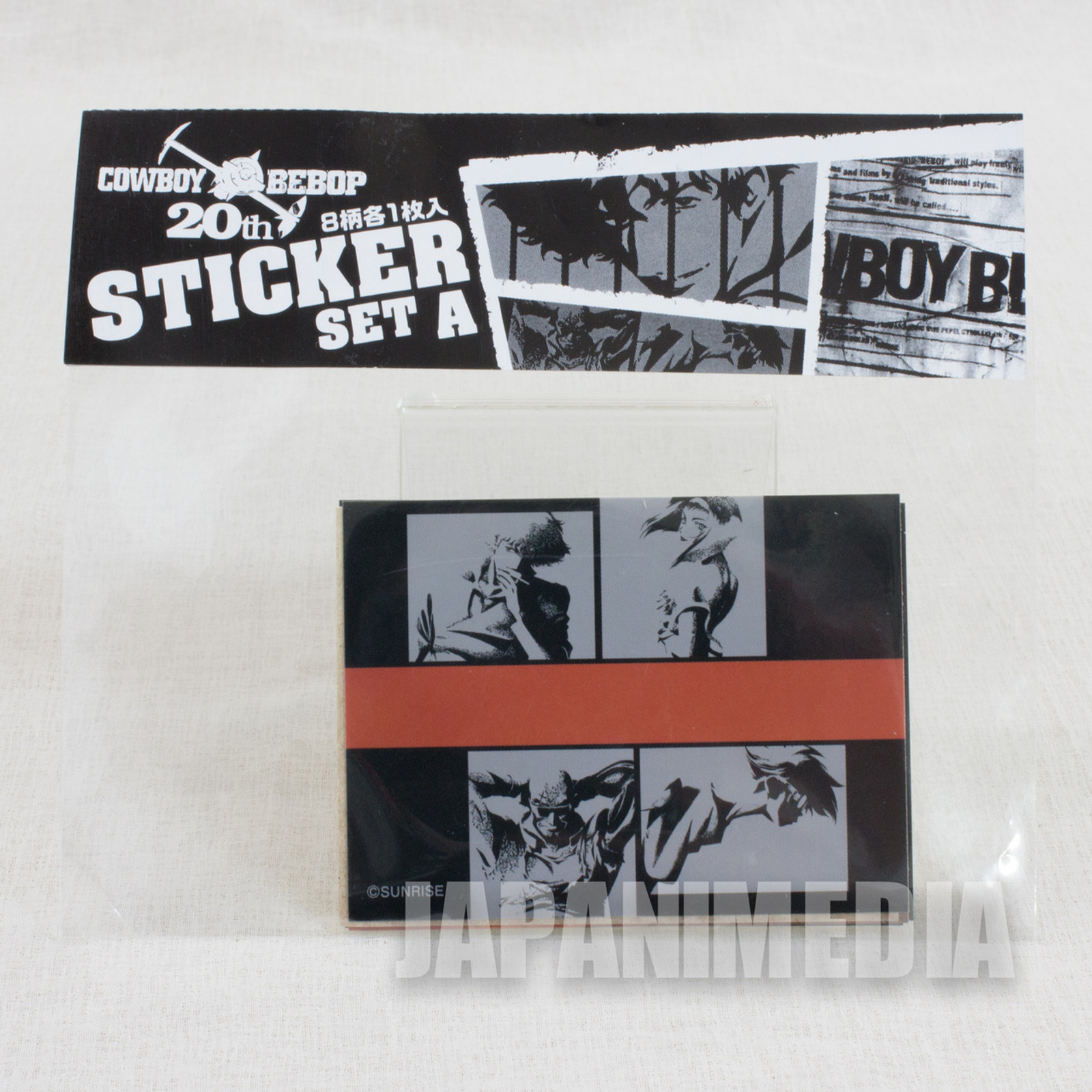 Cowboy Bebop Sticker Set A 8pc [ Spike / Jet / Faye / Ed ] JAPAN ANIME