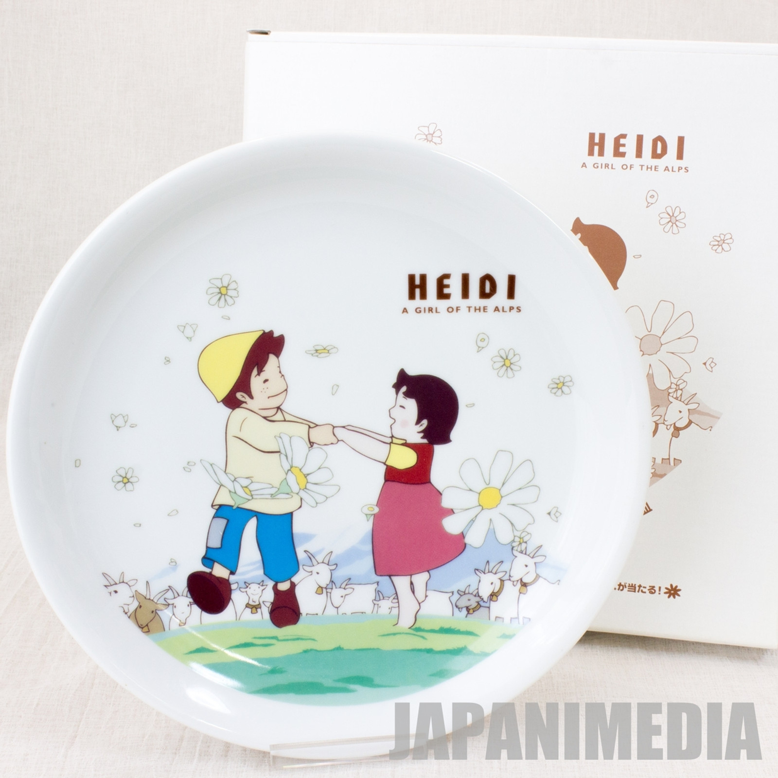 Heidi Girl of the Alps Picture Plate Dish Family Mart JAPAN ANIME