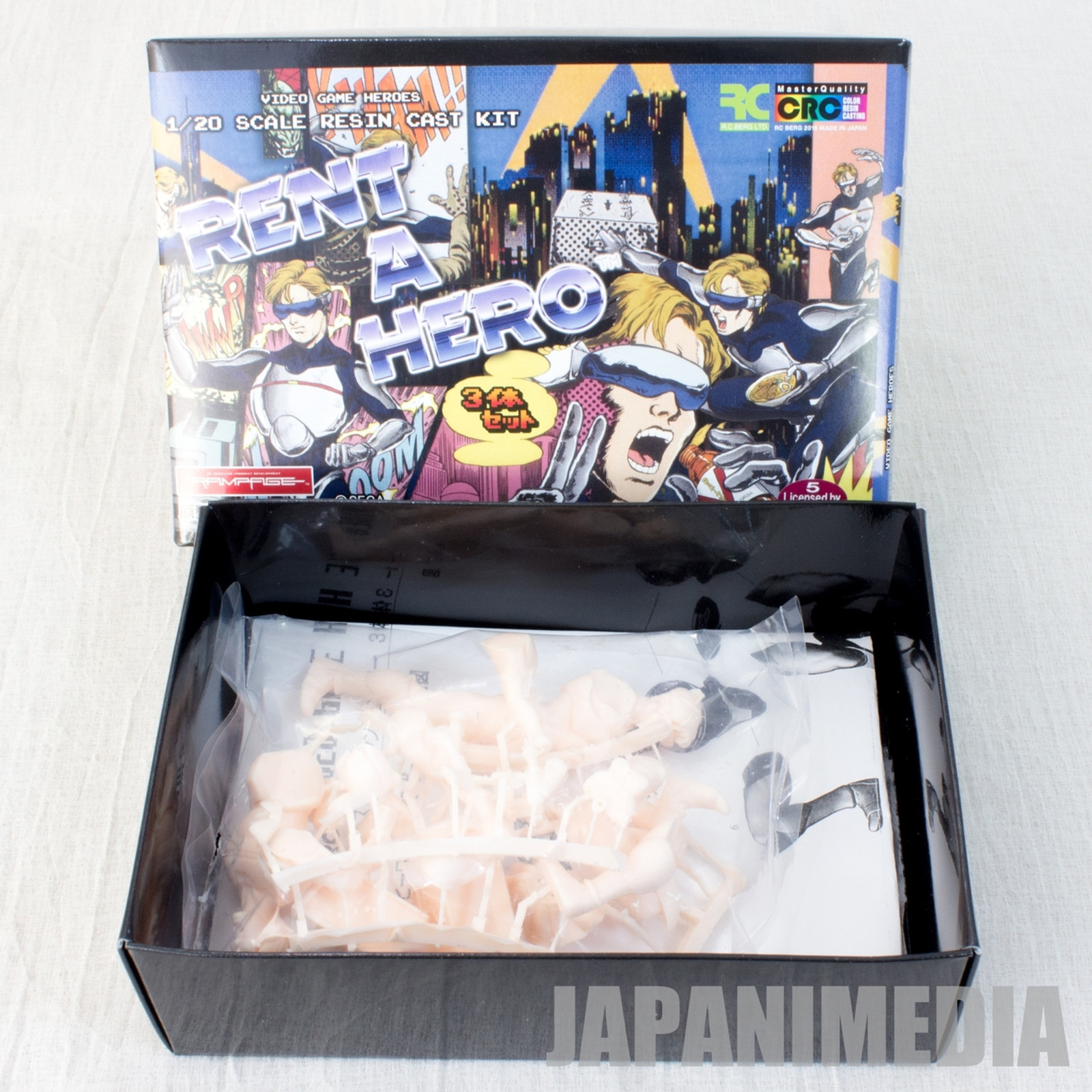 Rent a Hero Resin Cast Model Kit 3pc Set 1/20 Scale MegaDrive SEGA