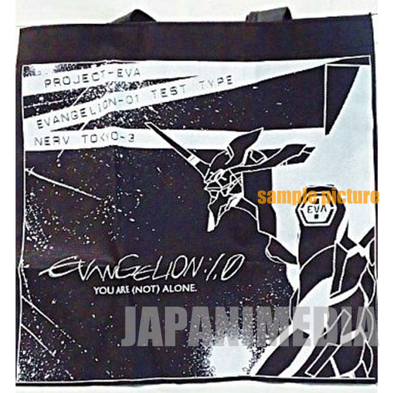 Evangelion x Newtype EVA01 W Name Original Bag JAPAN ANIME MANGA