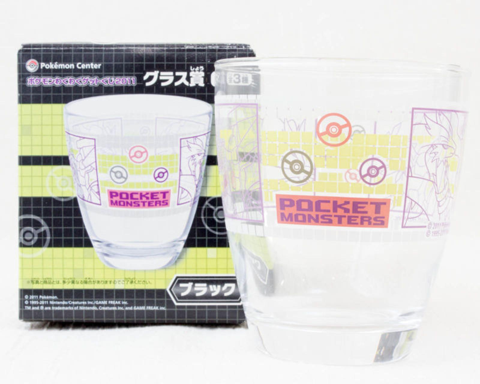 Pokemon Glass Zekrom and Reshiram Pocket Monster Center JAPAN ANIME MANGA