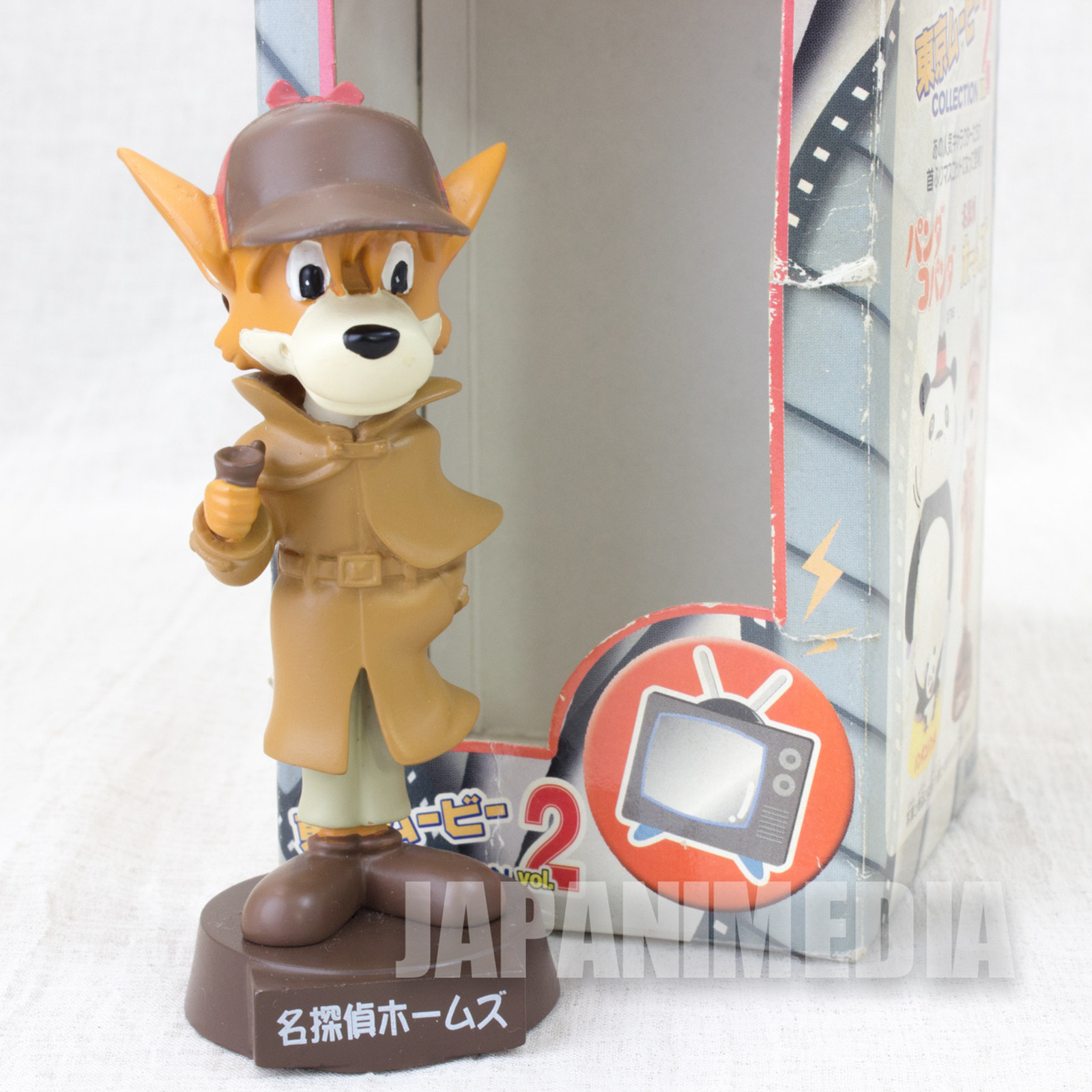 RARE!! The Detective Holmes Sherlock Holmes Bobblehead Figure Tokyo movie Collection vol.2 JAPAN ANIME