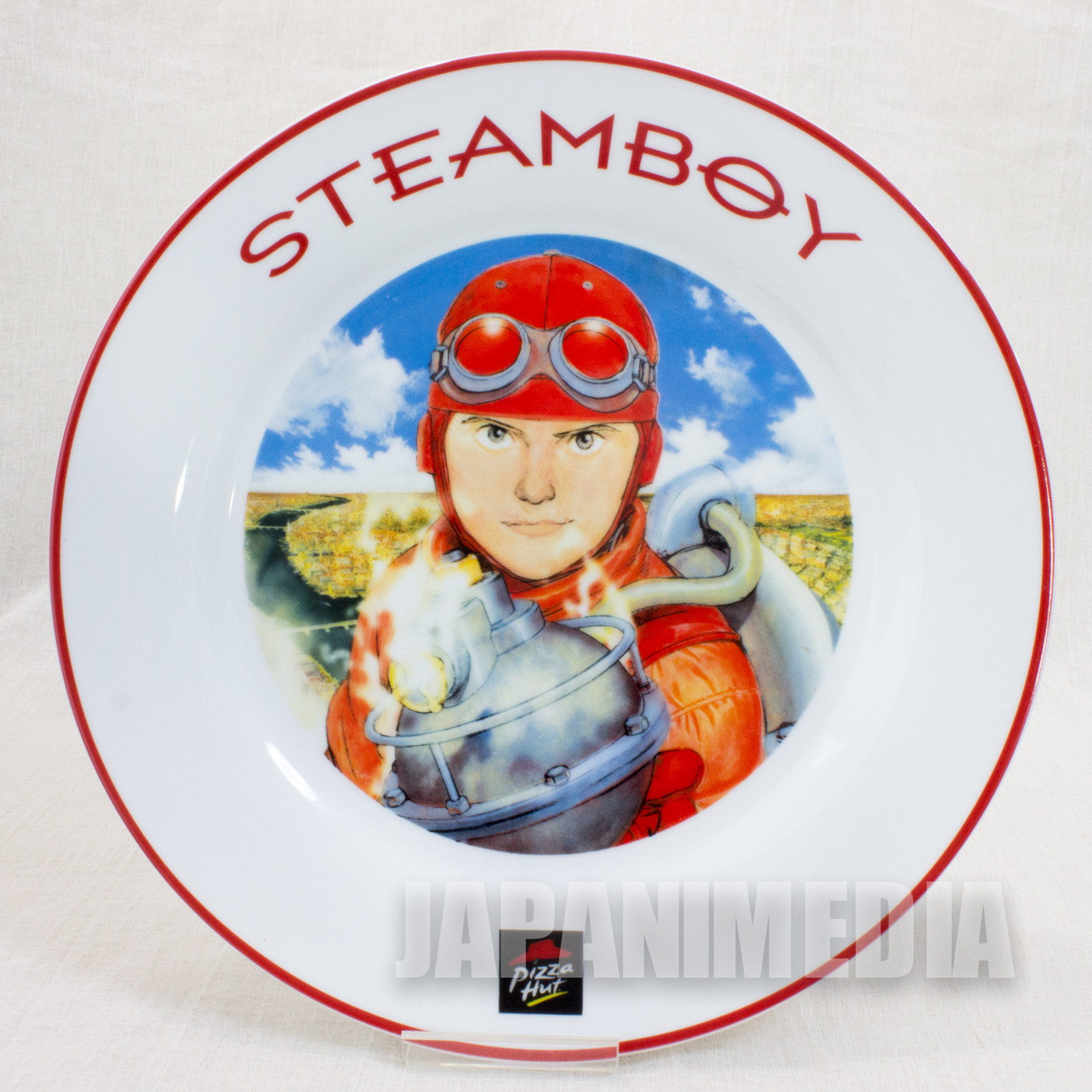 SteamBoy Pizza Hat Picture Plate Dish Otomo Katsuhiro JAPAN ANIME MANGA
