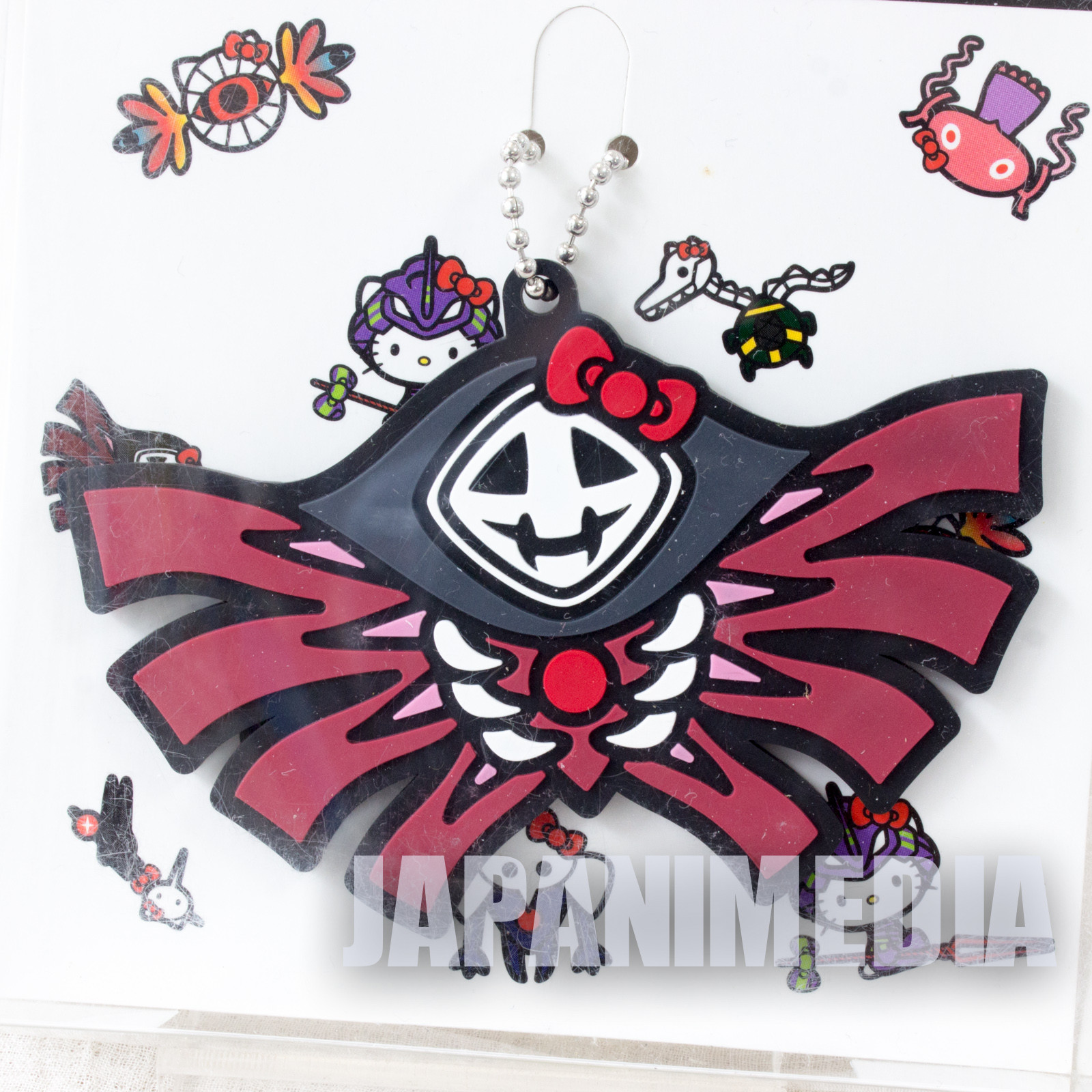 Evangelion 10th Angel Zeruel x Hello Kitty Rubber Mascot Ballchain