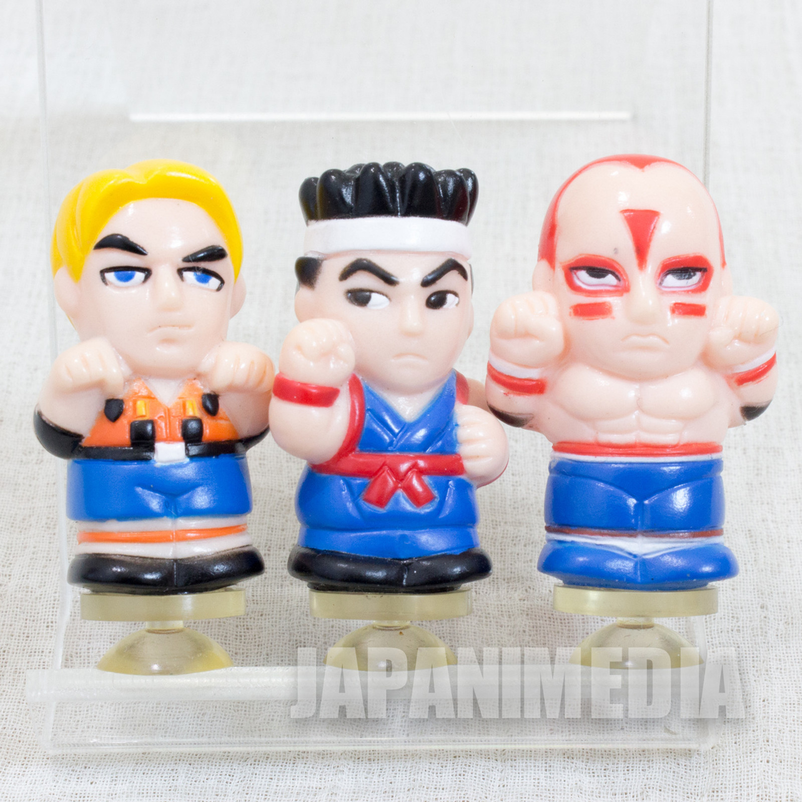 Set of 3 Virtua Fighter Min Figure Suction Cup Akira Hawkfield Lion Rafal