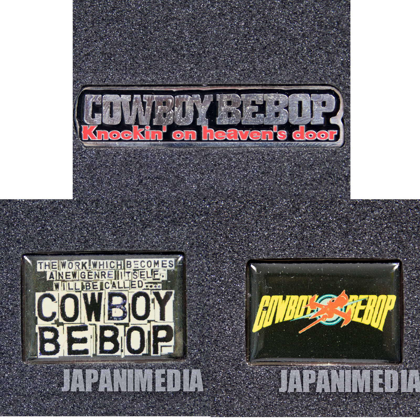 RARE Cowboy Bebop Knockin' on Heaven's Door Pins 3pc Set JAPAN ANIME