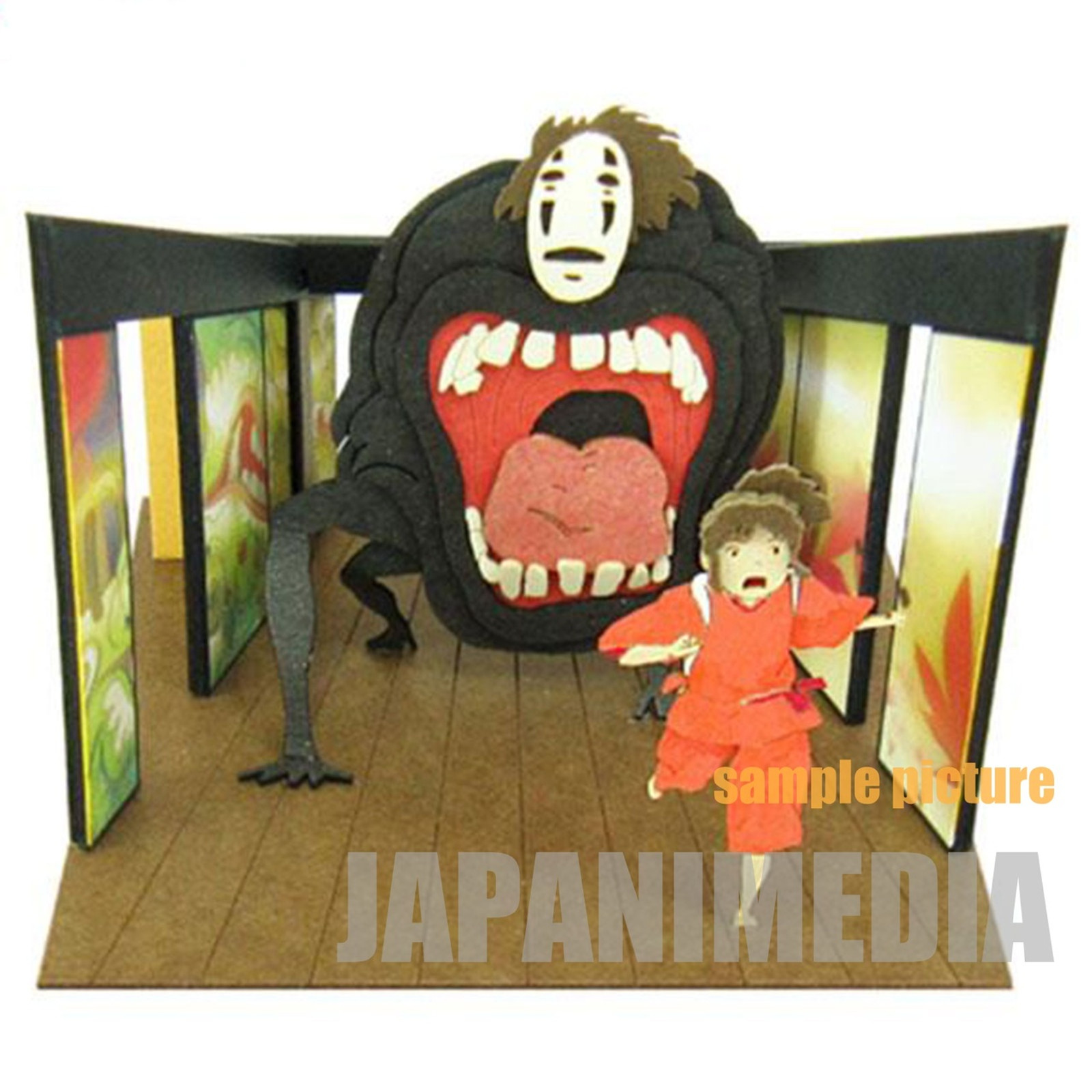 Spirited Away Sen (Chihiro) & No-Face Miniatuart Mini #14 Paper-Kit Ghibli JAPAN ANIME
