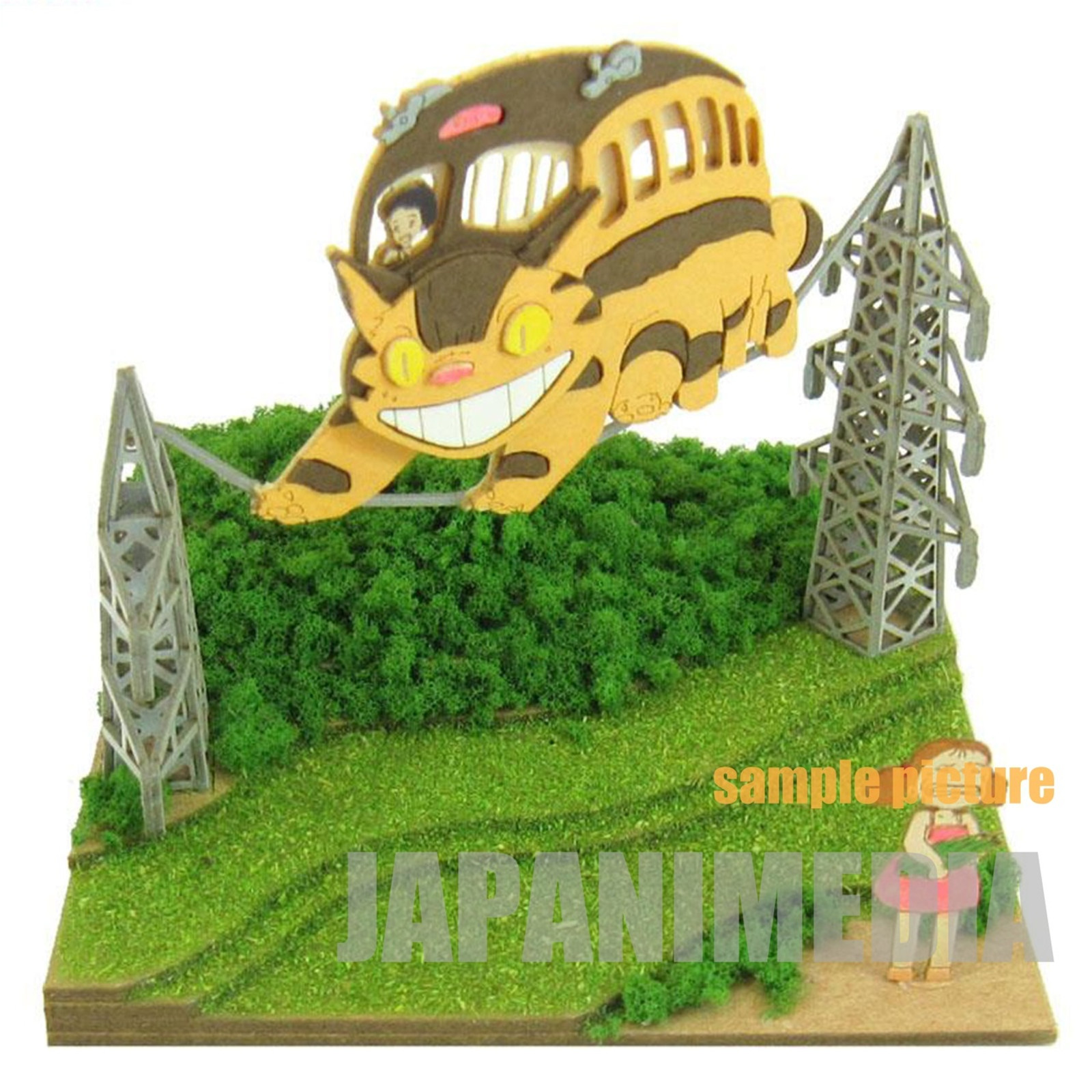 My Neighbor Totoro Mei & Catbus Miniatuart Mini #04 Paper-Kit Ghibli JAPAN ANIME