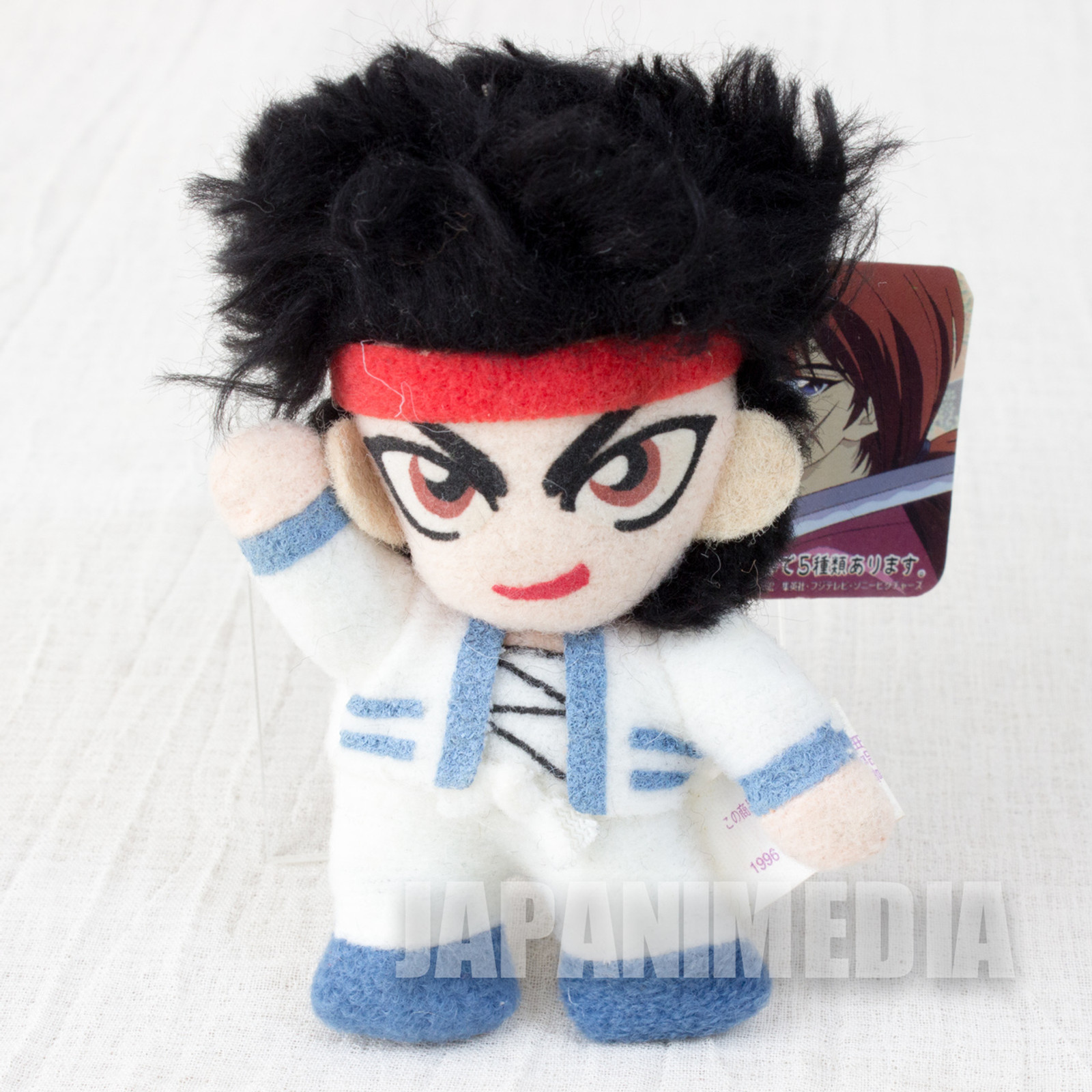 Rurouni Kenshin Sanosuke Sagara Plush Doll Keychain JAPAN ANIME MANGA