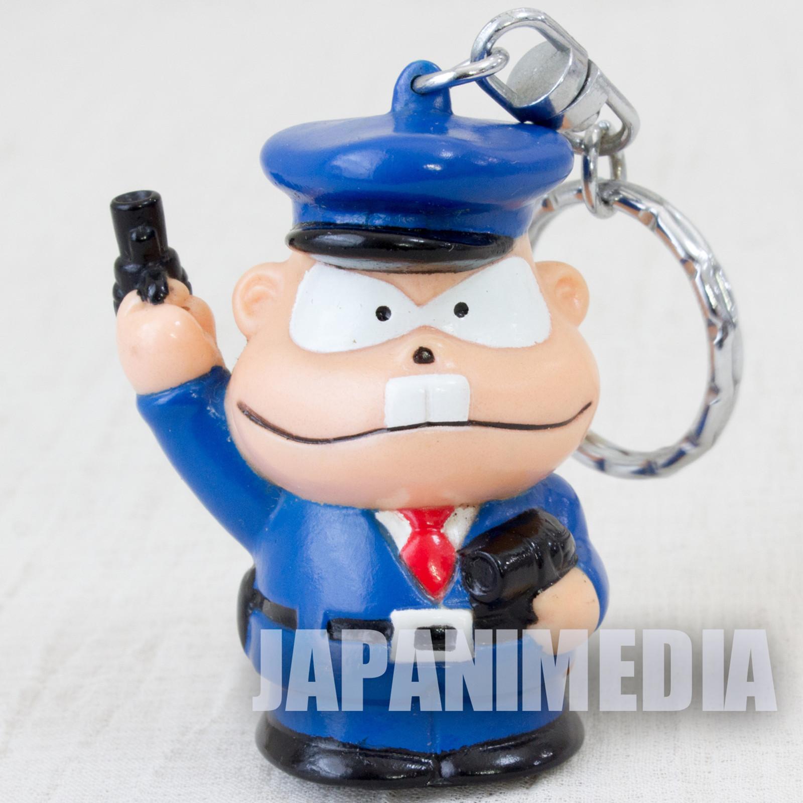 Genius Tensai Bakabon Police Officer Figure Keychain Fujio Akatsuka JAPAN ANIME