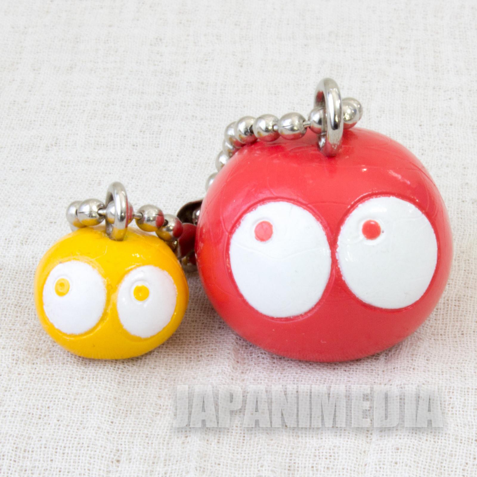 Retro RARE Puyo Puyo Red & Yellow Figure Keychain JAPAN FAME SEGA