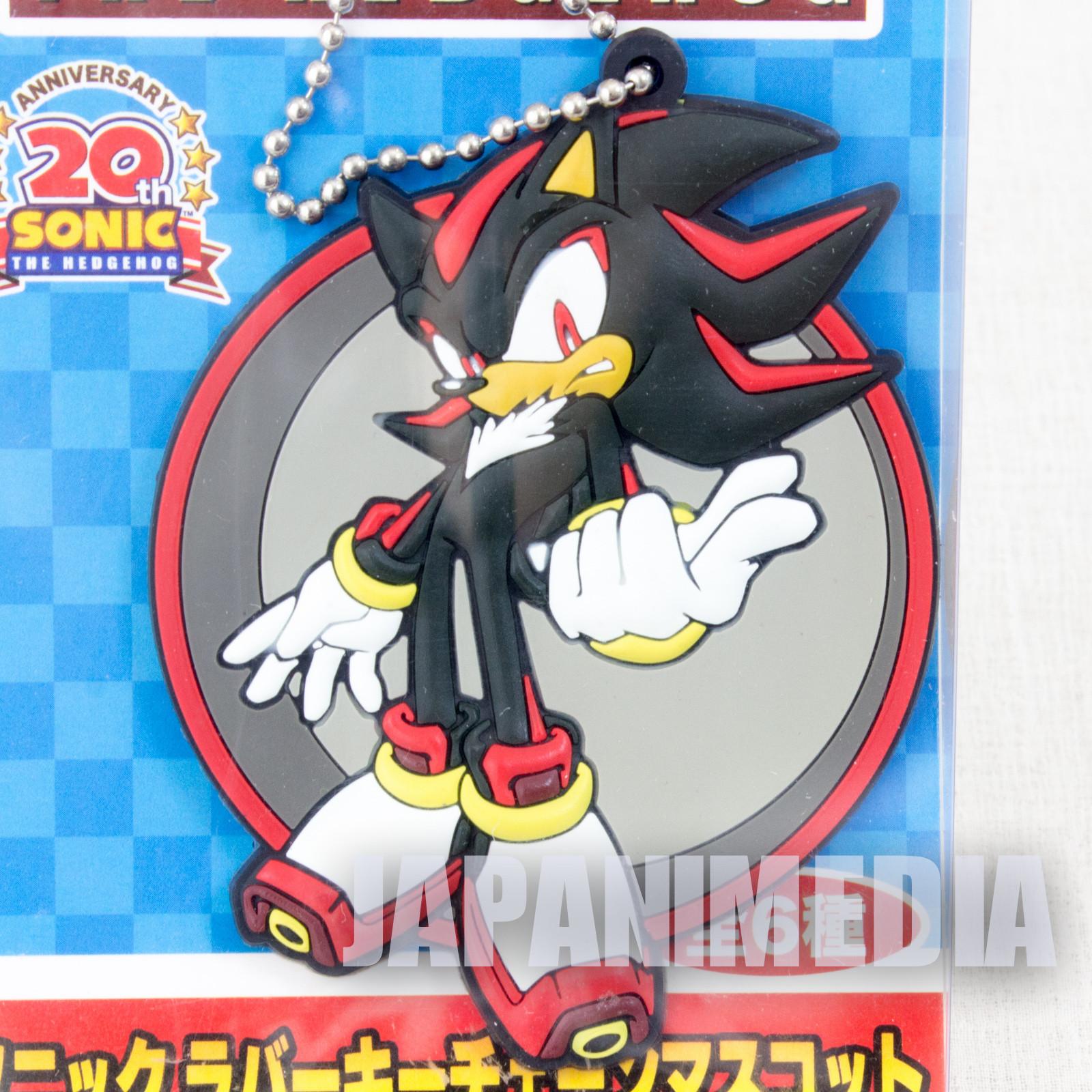 Sonic The Hedgehog Shadow 20th Anniversary Rubber Mascot SEGA JAPAN GAME