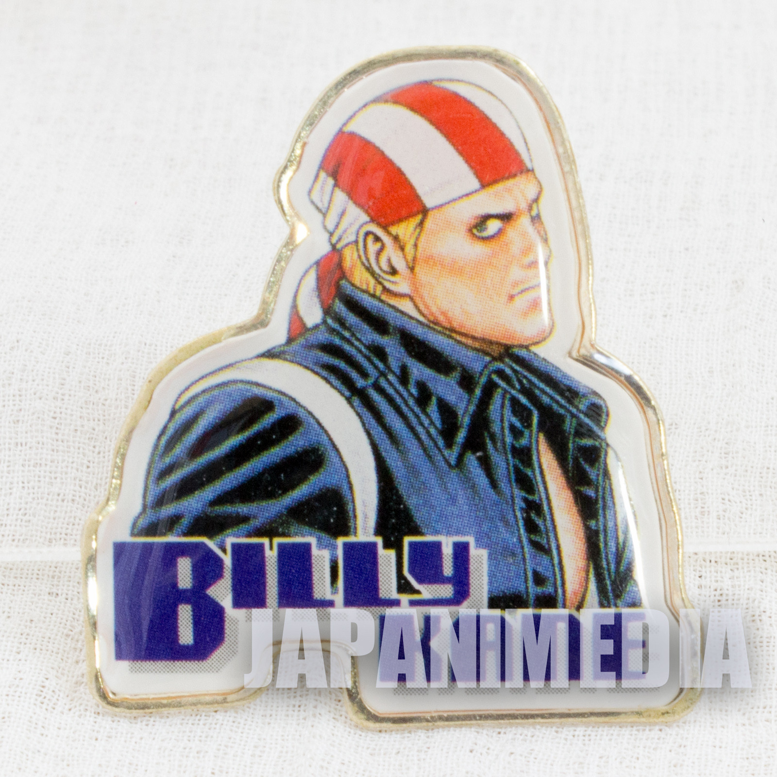 RARE! Fatal Fury / King of Fighters Billy Kane Metal Pins SNK JAPAN