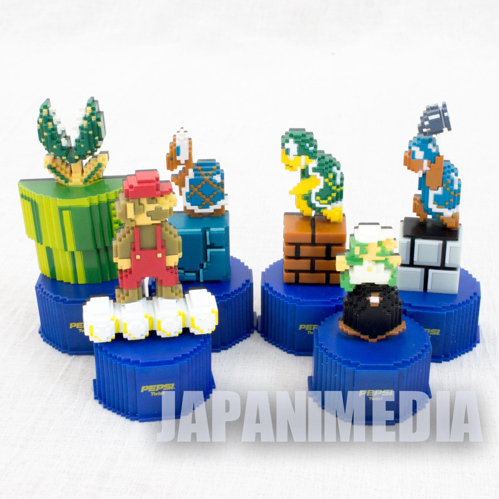 Set of 5 Super Mario Bros. Pepsi Mini Dot Figure Famicom NES NINTENDO JAPAN