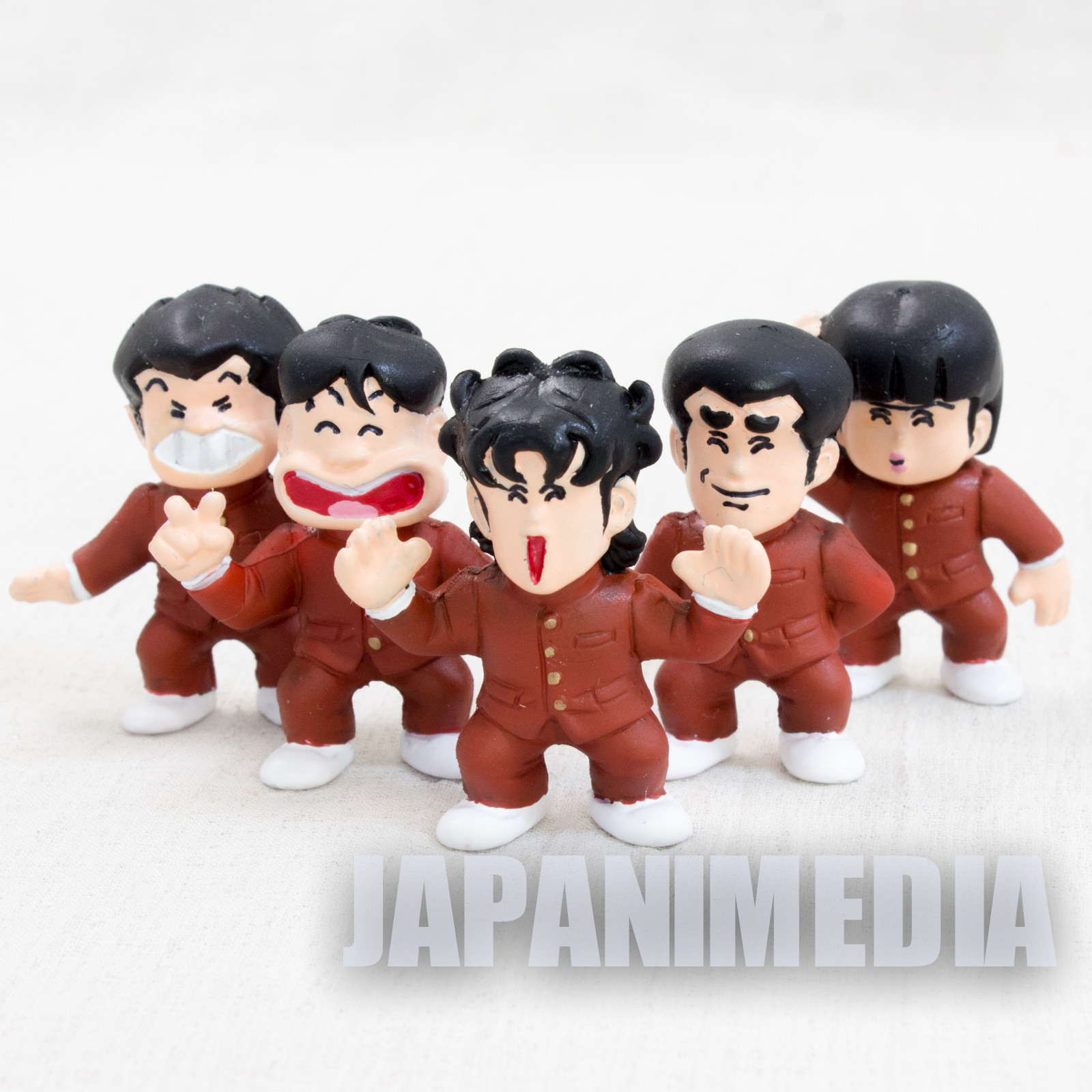 High School Kimengumi Anime Color Painted Rubber Figure 5pc Set Popy JAPAN