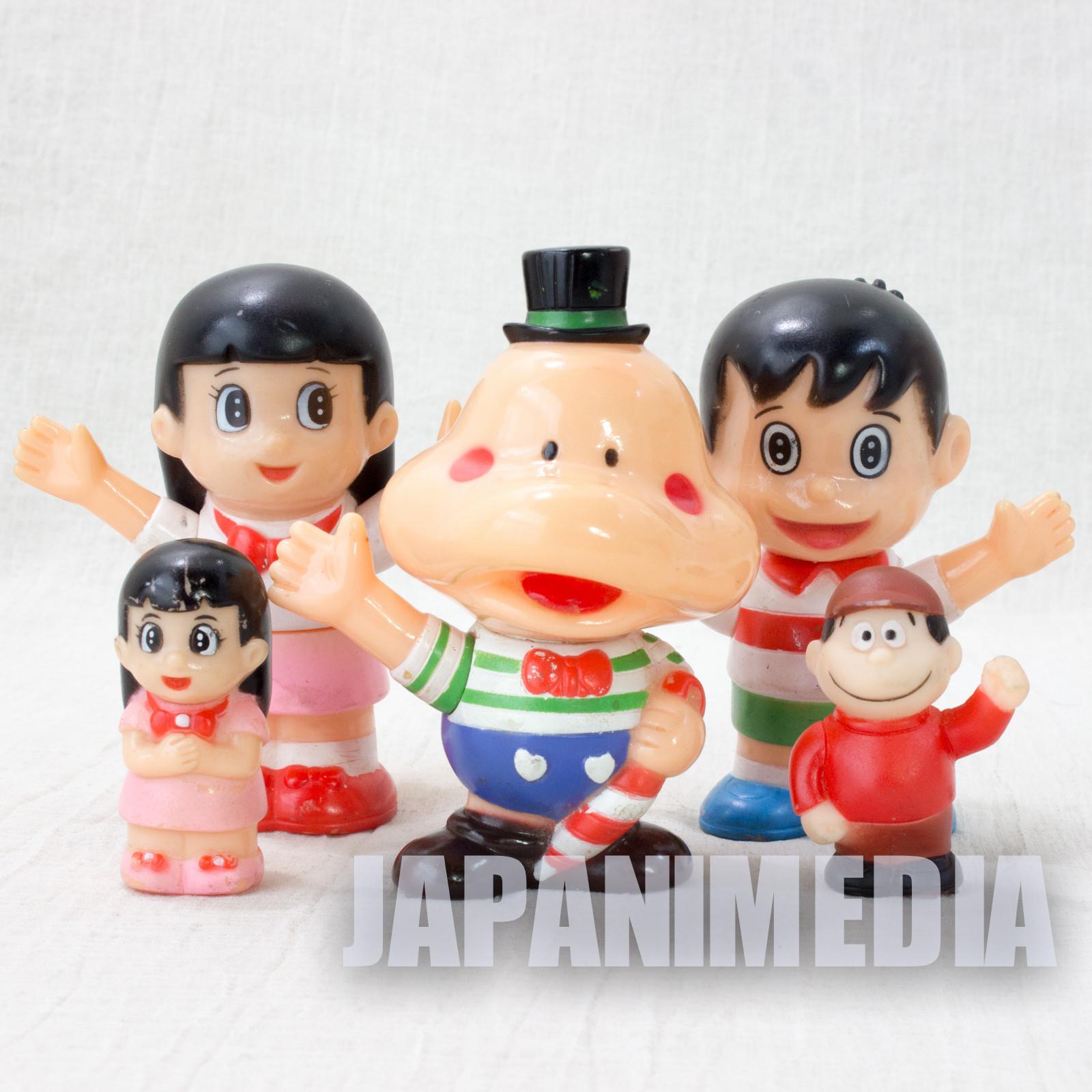 Retro RARE! Parasol Henbee Soft Vinyl Figure Set Fujiko A. Fujio JAPAN ANIME