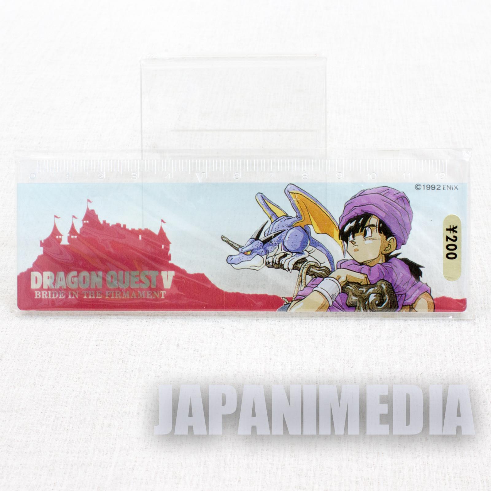 Retro RARE! Dragon Quest Ⅴ Ruler 12cm Enix 1992 JAPAN WARRIOR