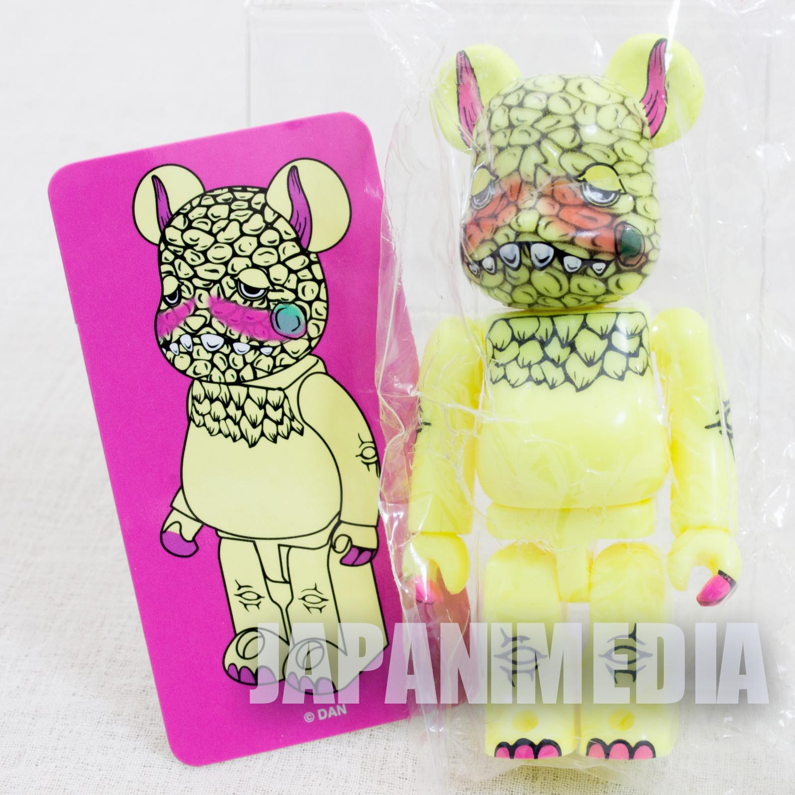 DAN BE@RBRICK Bearbrick Figure Yellow Artist Series Medicom Toy