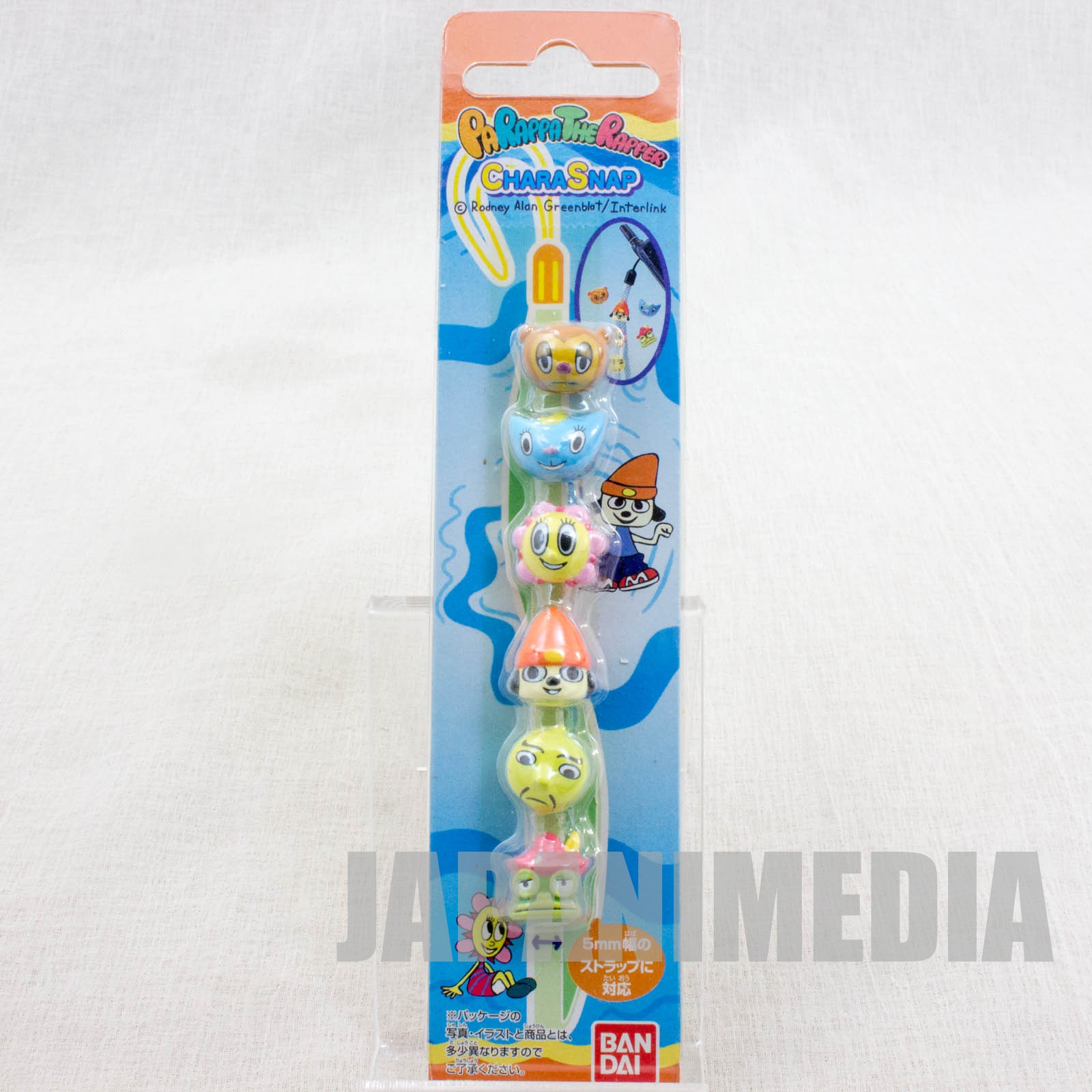 Parappa The Rapper Chara Snap button 6pc Set JAPAN GAME