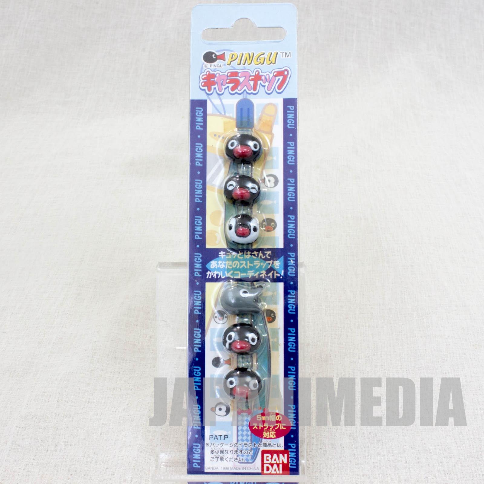 Pingu Chara Snap button 6pc Set [Pingu / Pinga / Robby] JAPAN ANIME