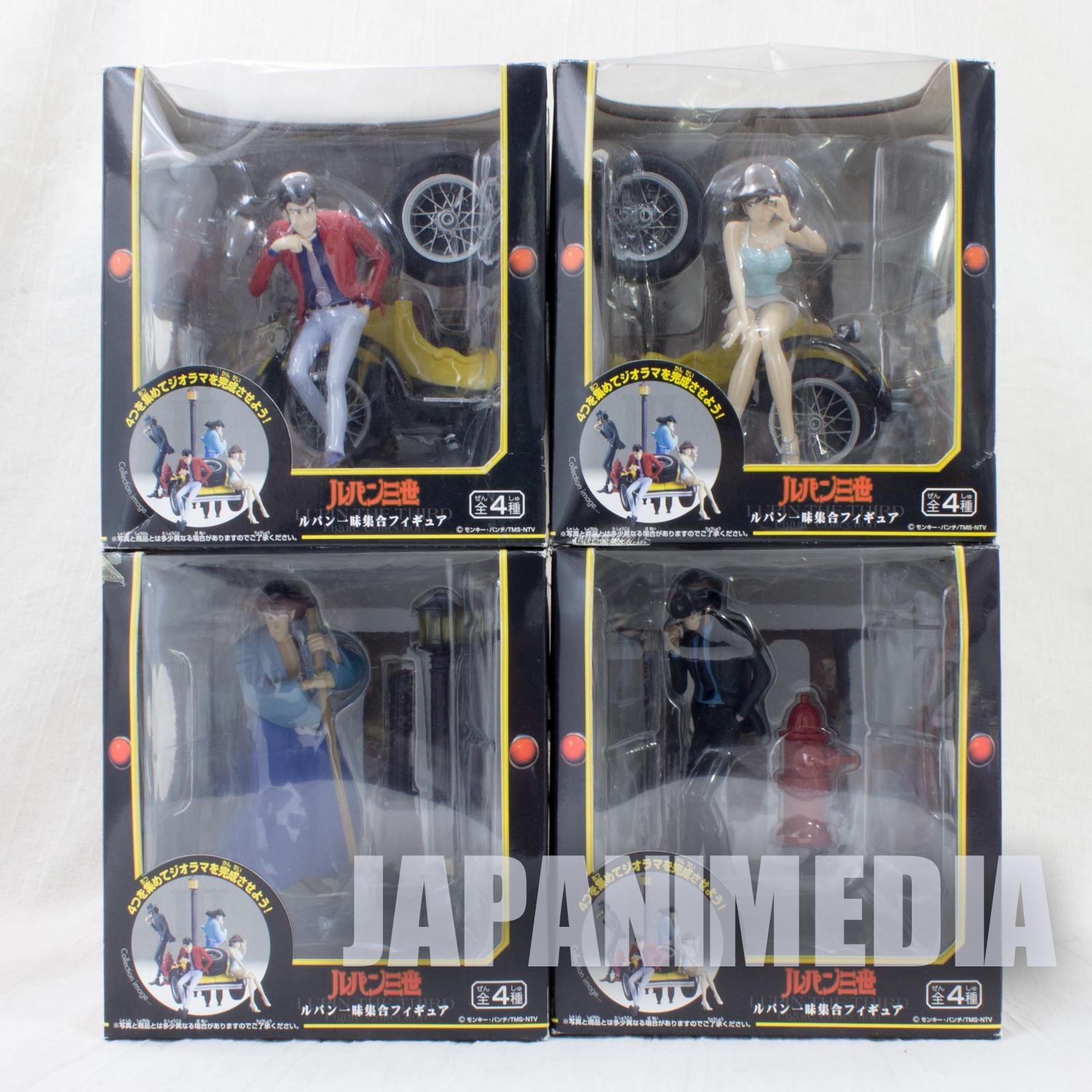 Lupin the Third (3rd) Lupin Family Figure Complete set [Lupin / Jigen / Goemon / Fujiko] Banpresto