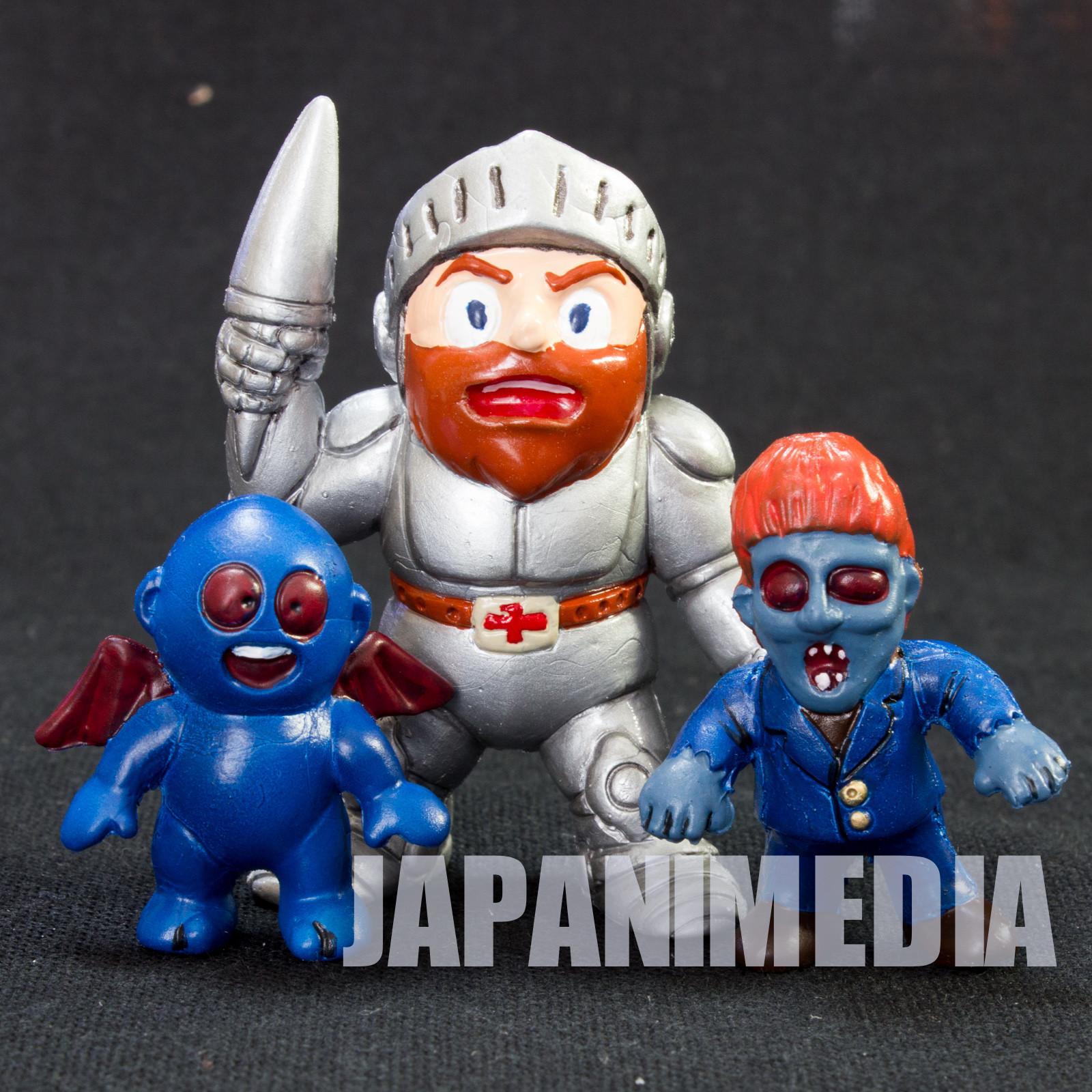 Ghosts'n Goblins Self Painted Rubber Figure Arthur Zombie Blue Killer Set NES