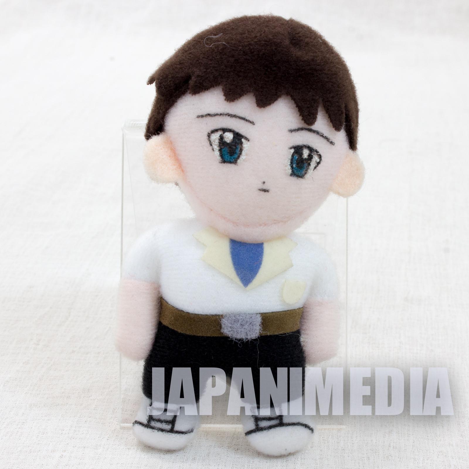 """Evangelion Shinji Ikari Mini Plush Doll 3.5"""" JAPAN ANIME MANGA"""