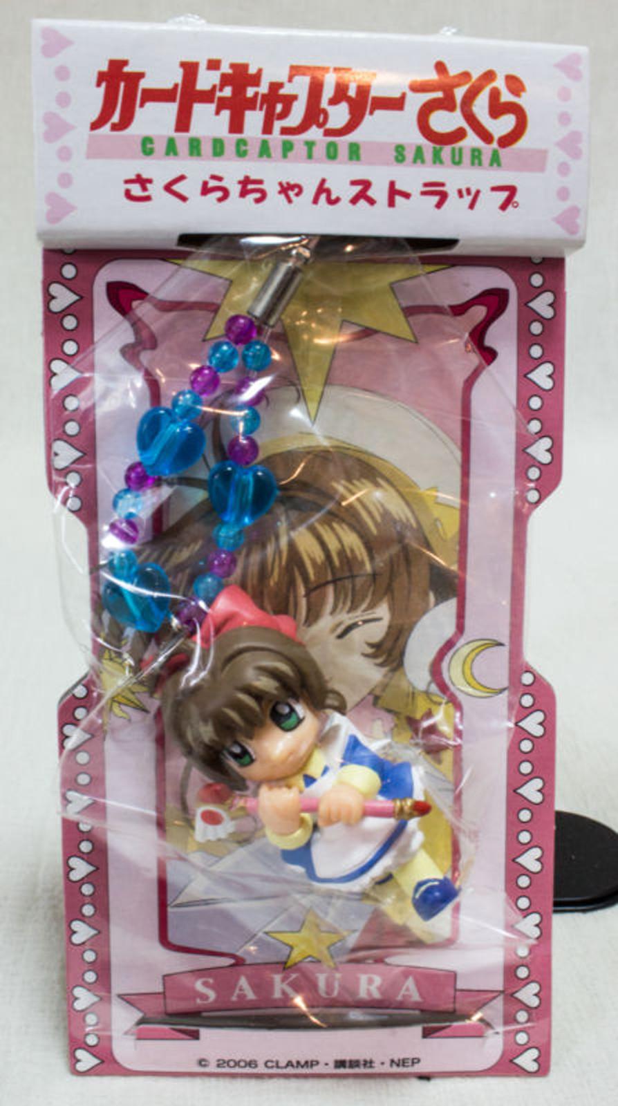 RARE! Cardcaptor Sakura Mascot Figure Mobile Strap 3 CLAMP SEGA JAPAN ANIME
