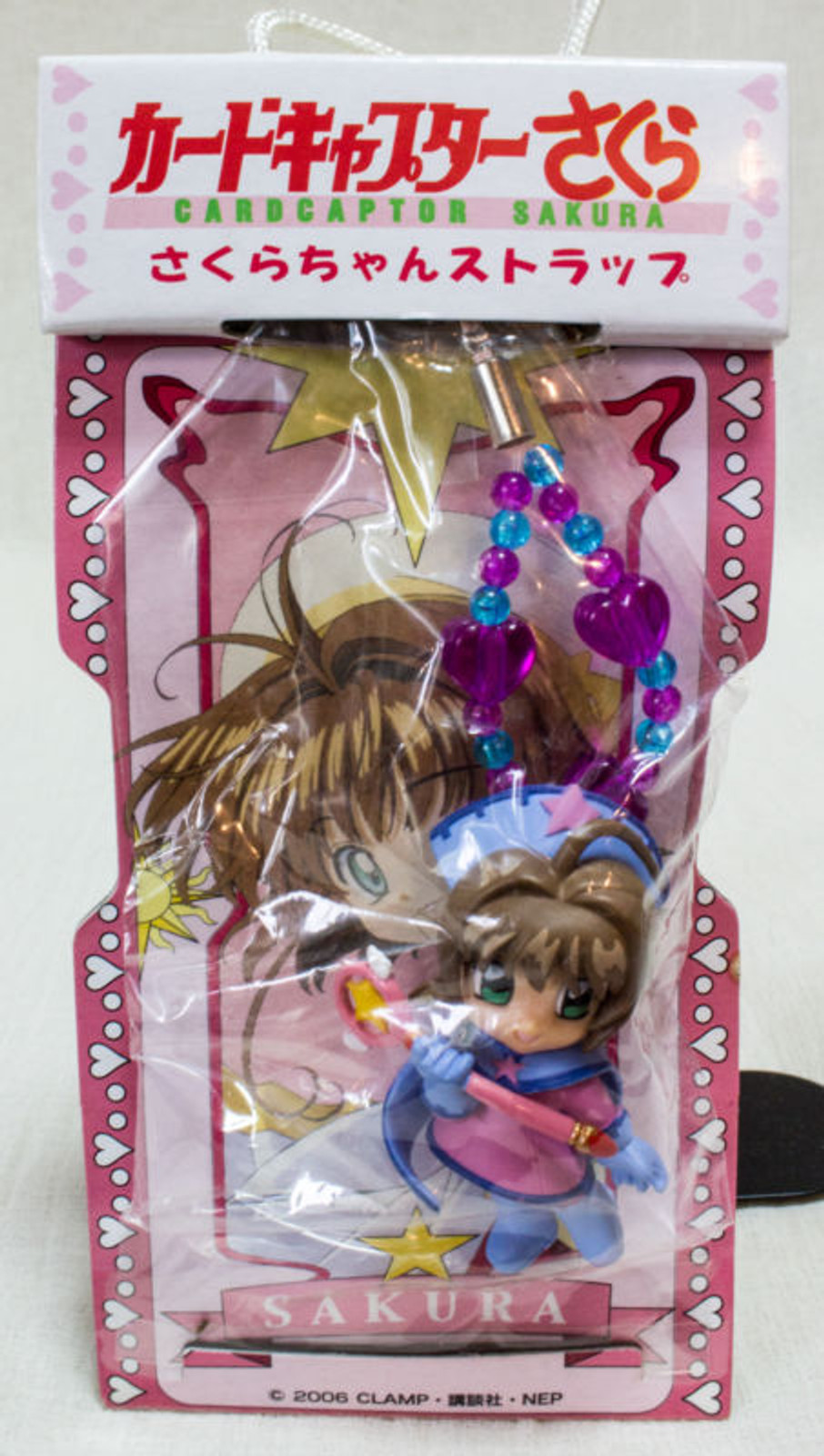 RARE! Cardcaptor Sakura Mascot Figure Mobile Strap 2 CLAMP SEGA JAPAN ANIME