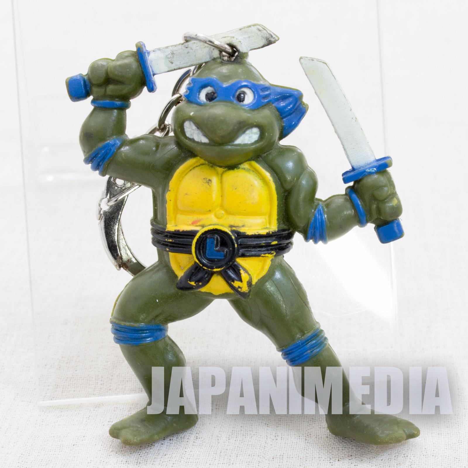 Retro RARE TMNT Teenage Mutant Ninja Turtles Leonardo Figure Key Chain 1994