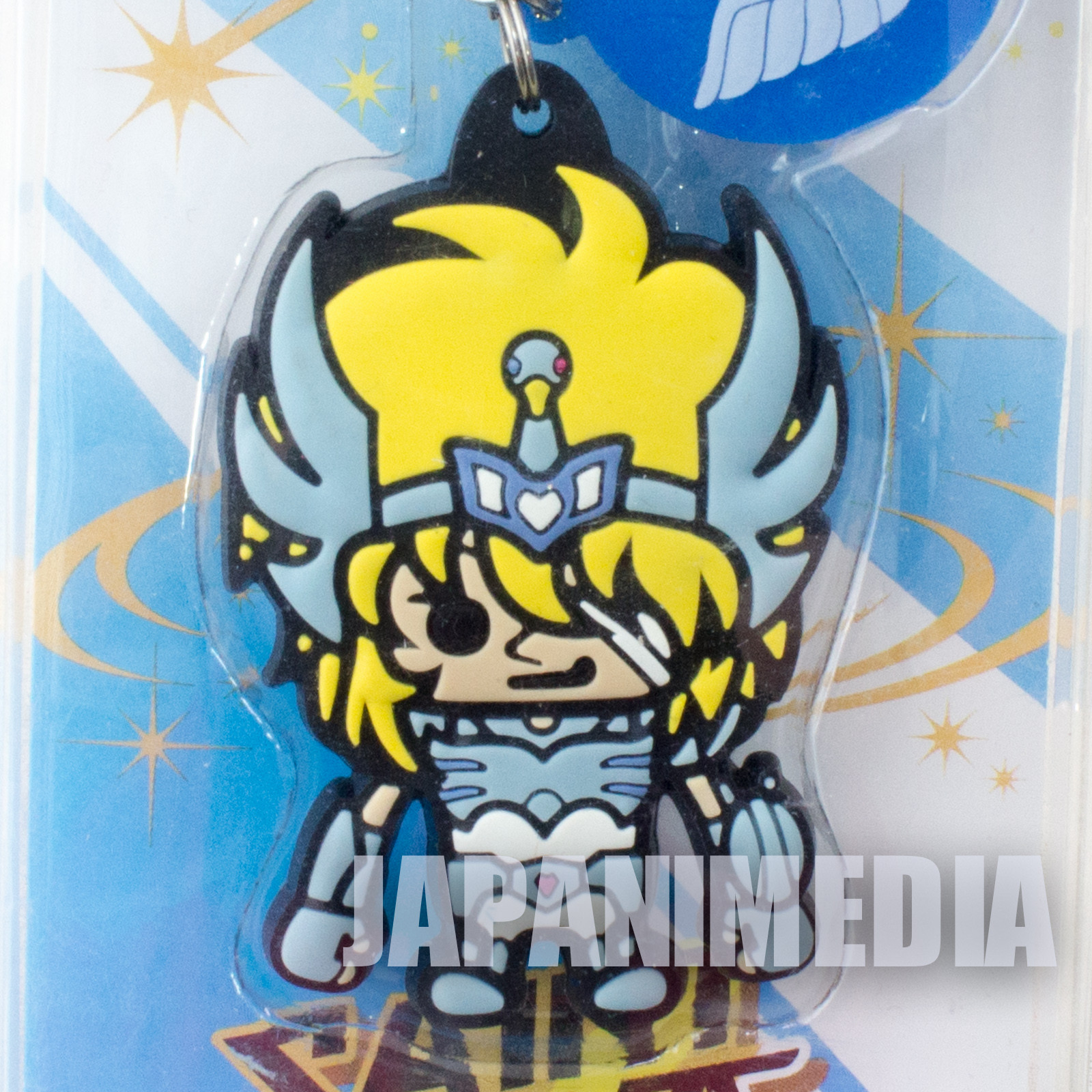 Saint Seiya Cygnus Hyoga Panson Works Mascot Rubber Strap JAPAN ANIME