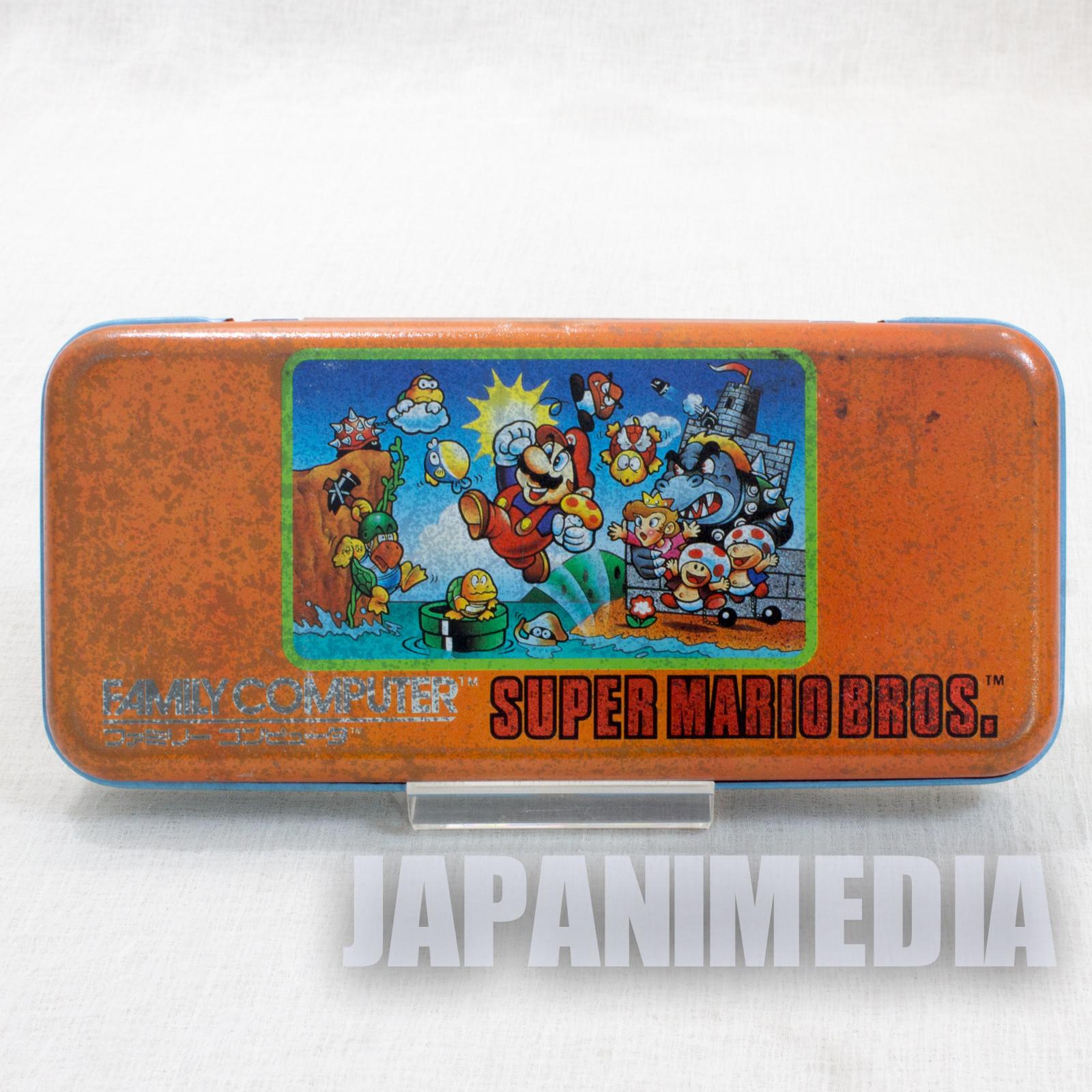 Retro RARE! Super Mario Bros. Can Pen Case Amada JAPAN GAME NES