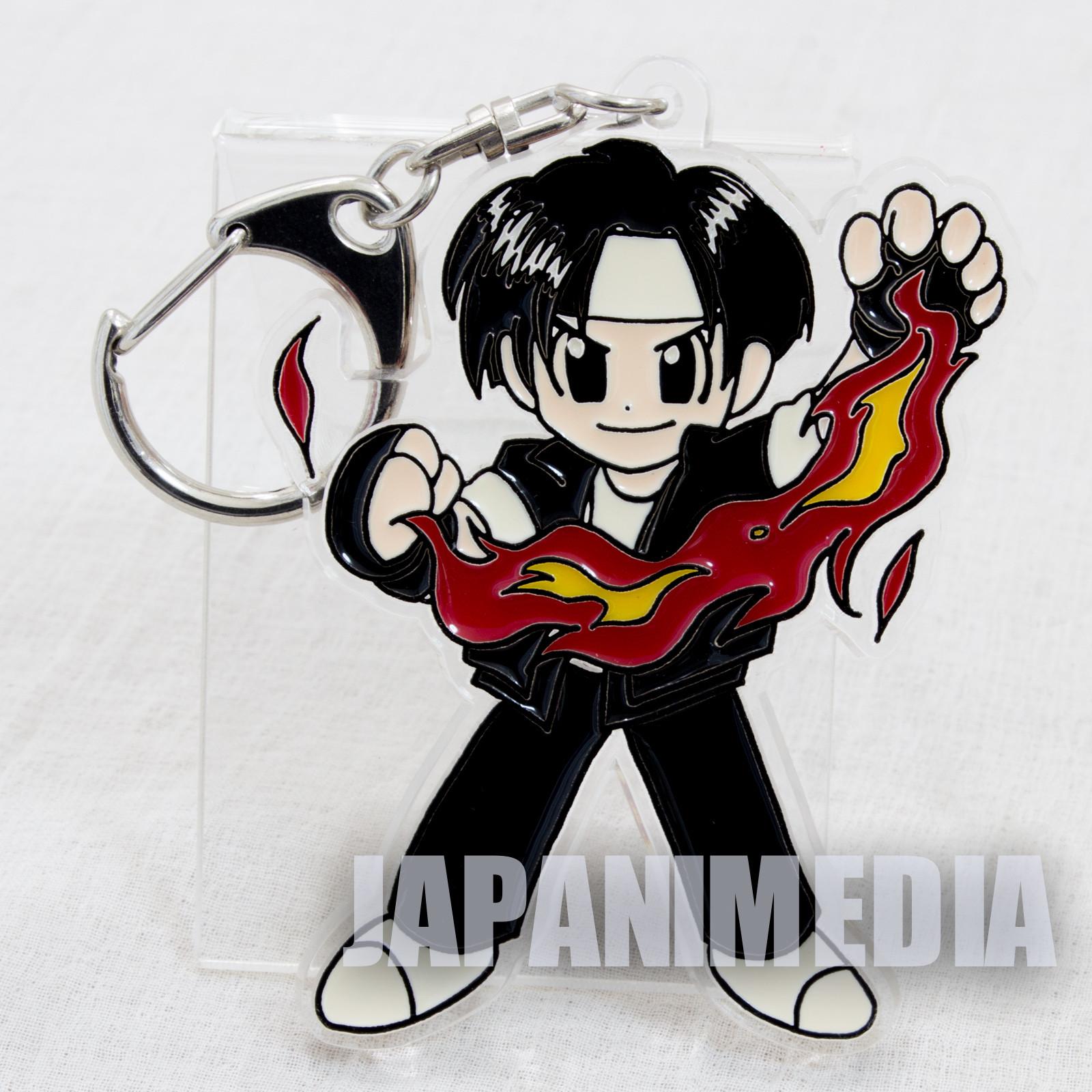 Retro KOF King of Fighters Kyo Kusanagi Acrylic Mascot Keychain SNK 1996 JAPAN