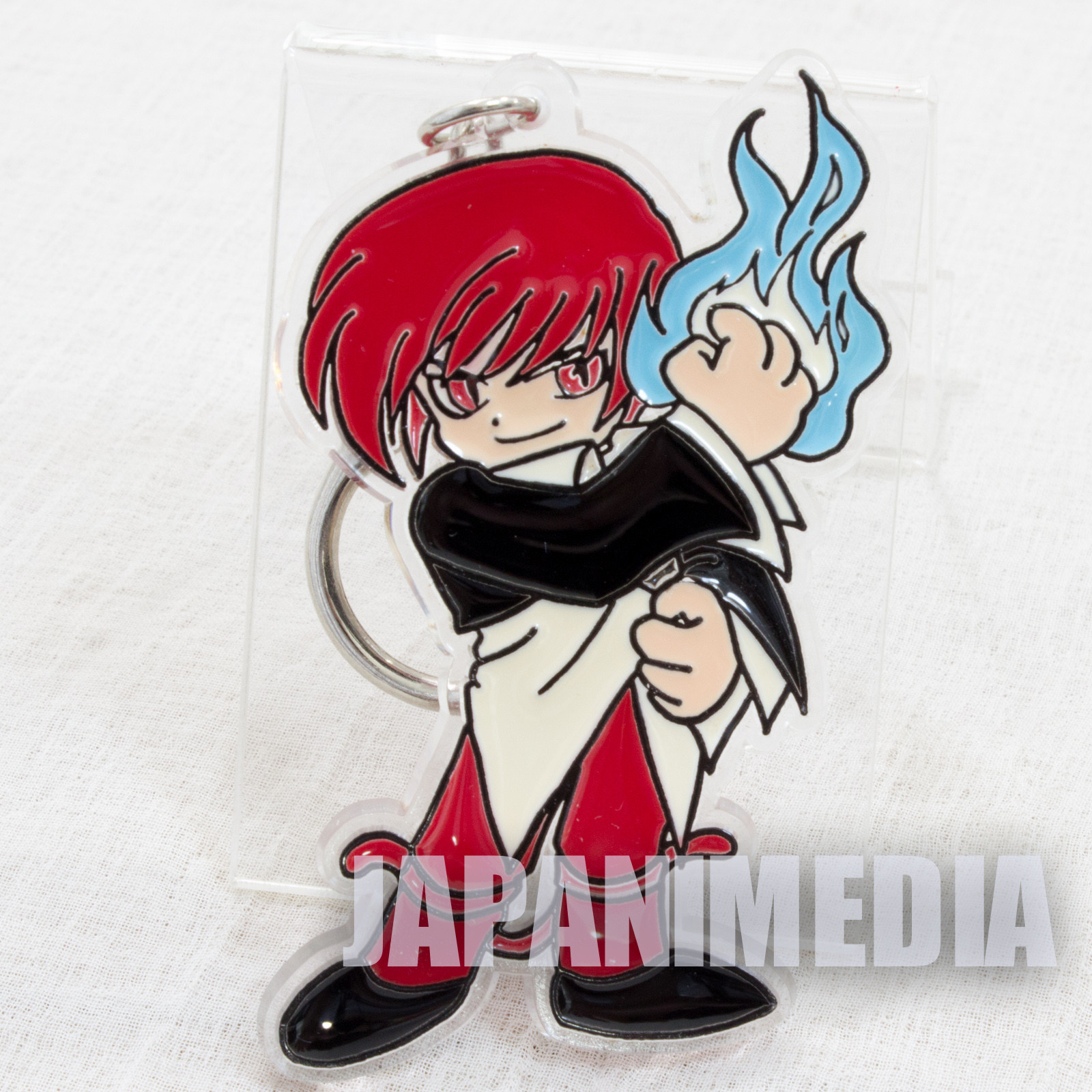 Retro KOF King of Fighters Iori Yagami Acrylic Mascot Keychain SNK 1996 JAPAN