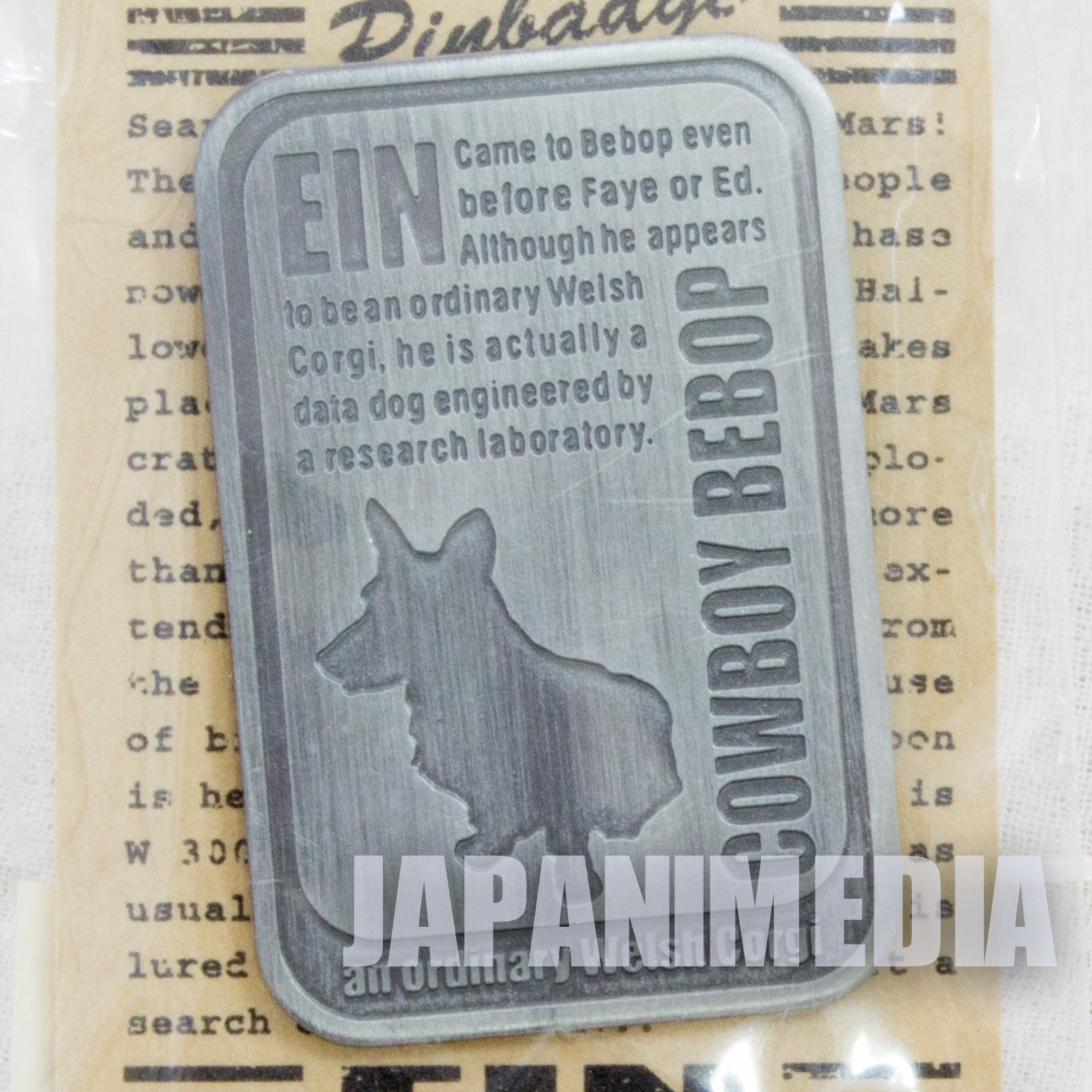 RARE! Cowboy Bebop EIN Dog Pins JAPAN ANIME