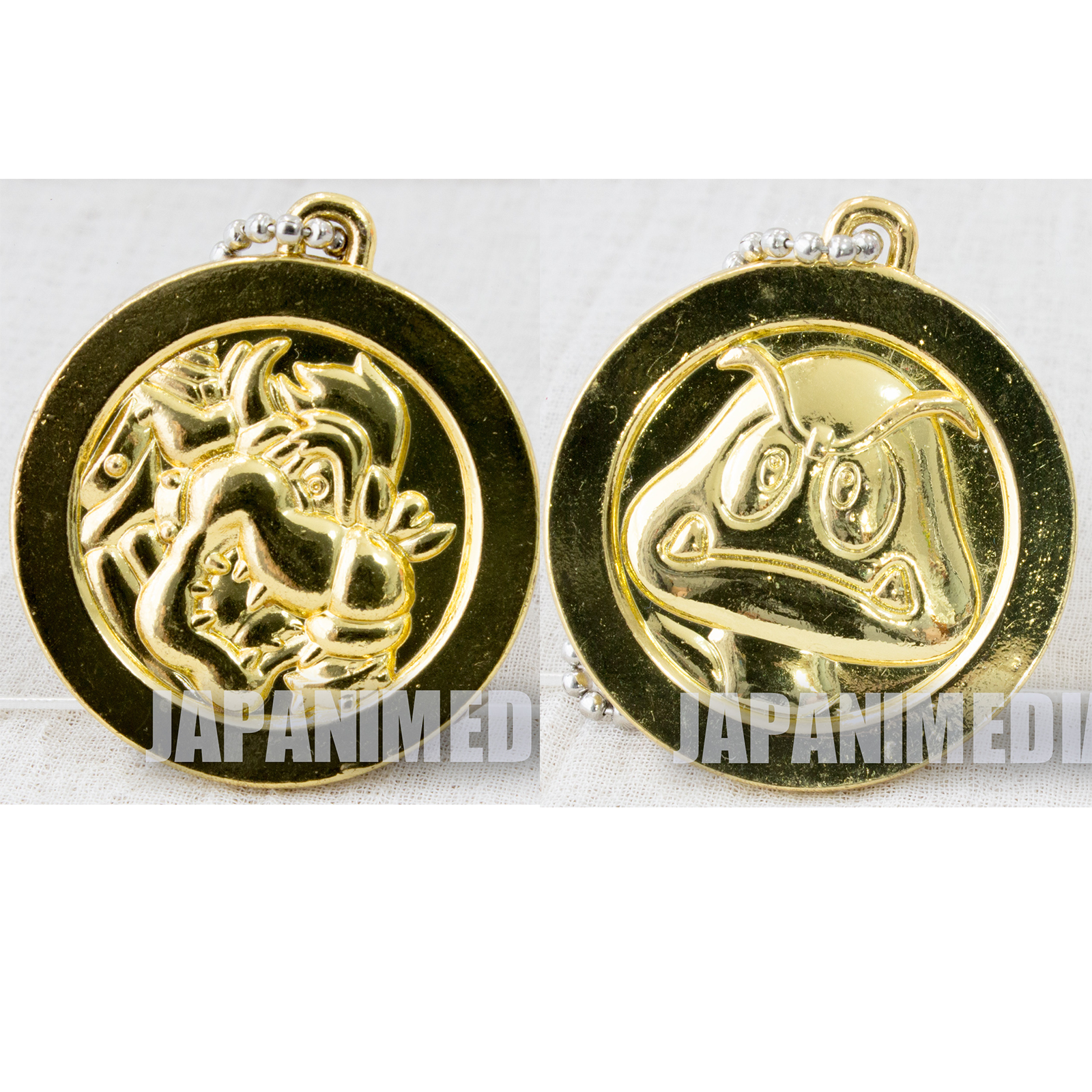 Super Mario Bros. Metal Coin Keychain Bowser & Goomba