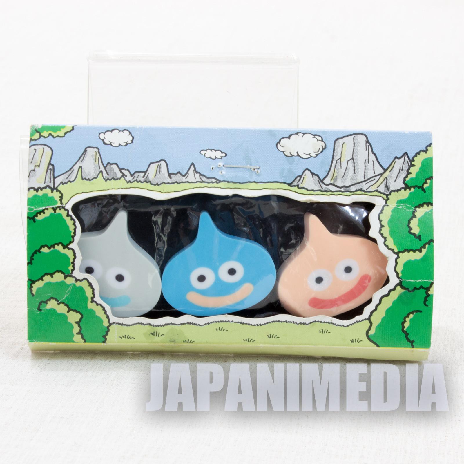 Dragon Quest Eraser Figure 3pc Set [Slime/Metal Slime/Slime Beth] Enix JAPAN
