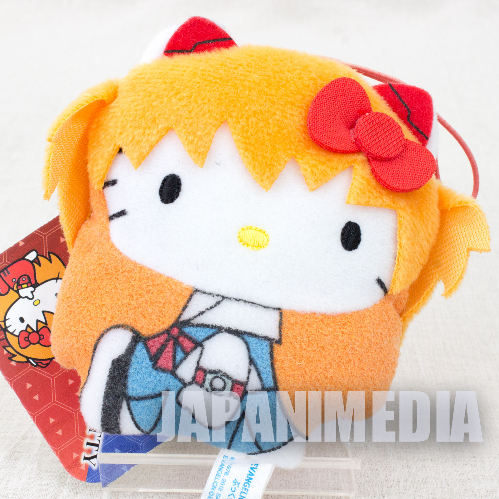 Evangelion x Hello Kitty Asuka Langley Plush Doll Uniform ver. Sanrio JAPAN ANIME