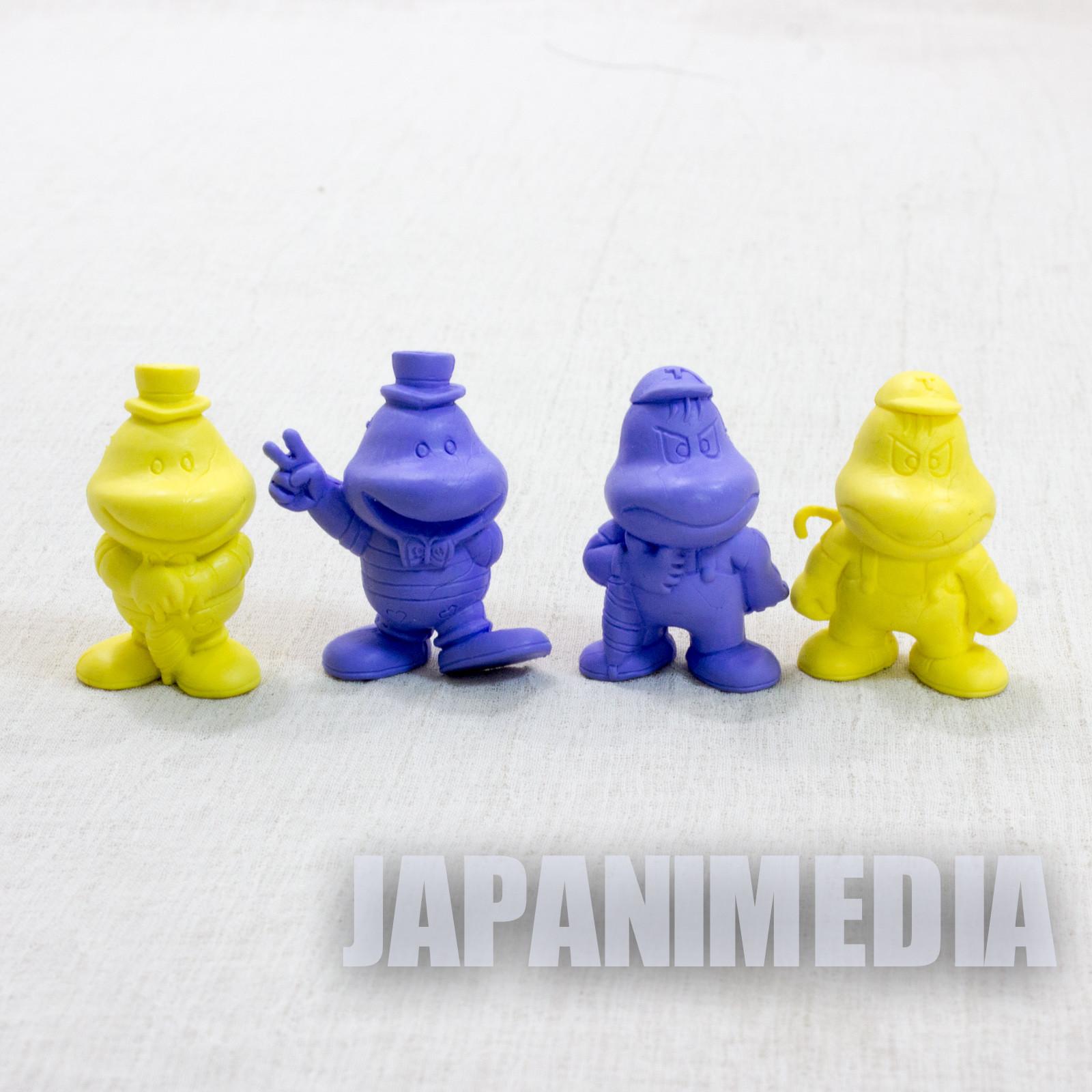 Retro RARE! Parasol Henbee Mini Rubber Figure 4pc set Fujiko A. Fujio JAPAN