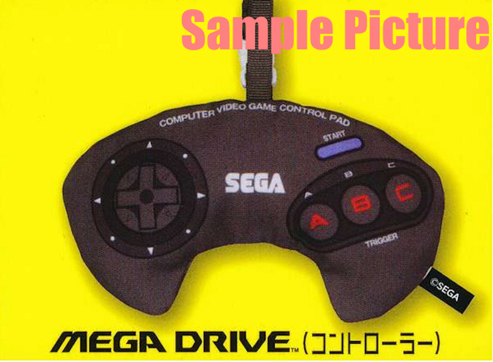 Mega Drive Controller SEGA Game Console Machine Type Pouch Case JAPAN GAME
