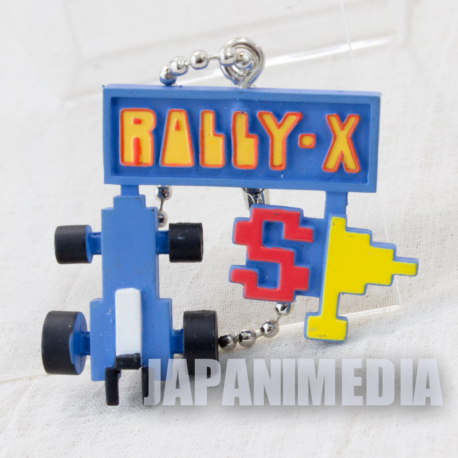 Retro RARE! Rally-X Figure Ballchain Namco Collection JAPAN NES