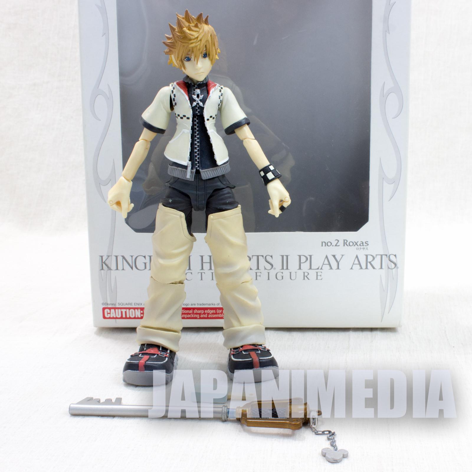 Kingdom Hearts Roxas Action Figure Play Arts Square Enix JAPAN GAME