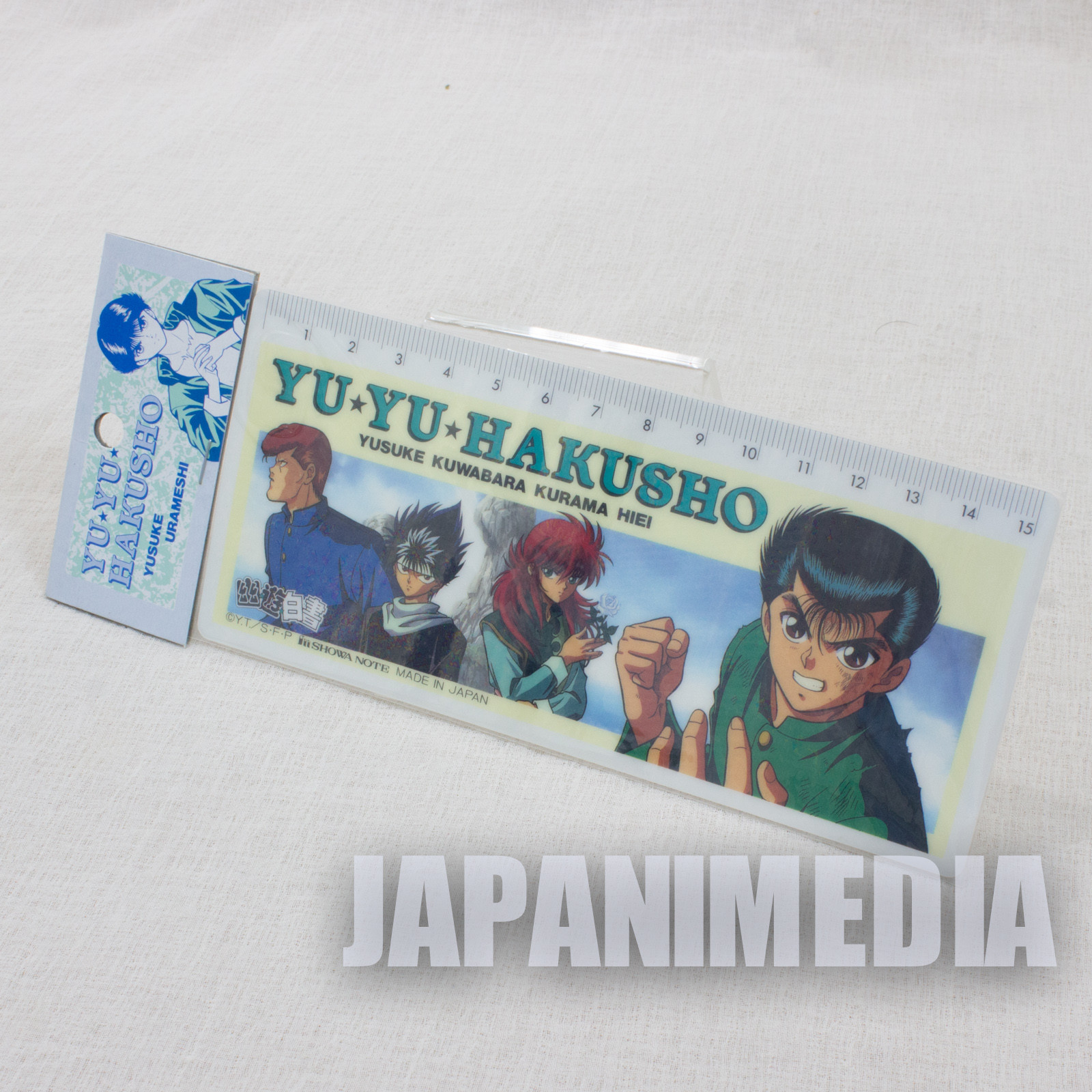 Yu Yu Hakusho Plastic Ruler 15cm [Yusuke / Kuwabara / Kurama / Hiei] JAPAN ANIME