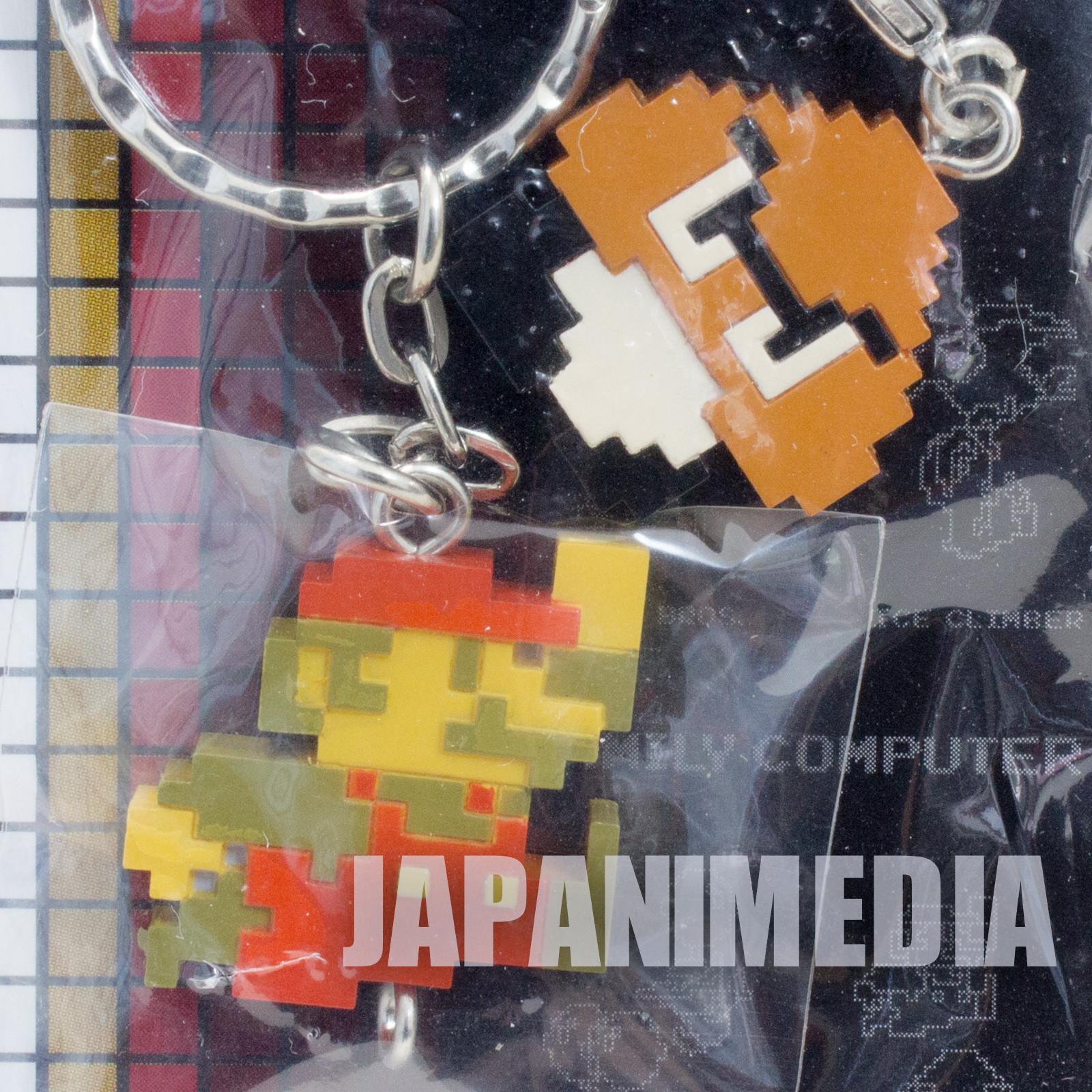 RARE! Super Mario Bros. Twin Keyholder Chain Figure Famicom NES NINTENDO JAPAN 2